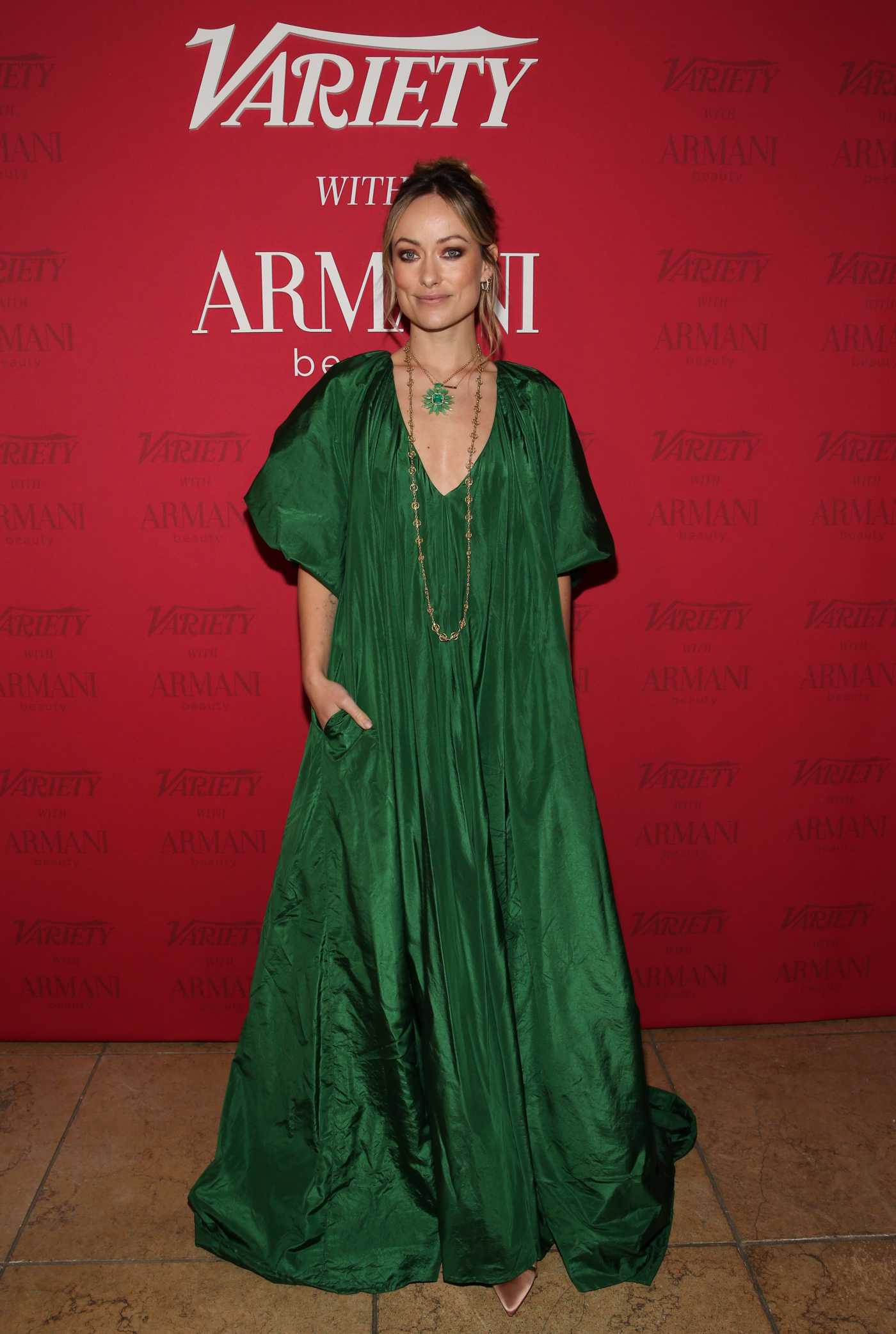 Olivia Wilde Attends the Variety x Armani Makeup Artistry Dinner at Sunset Tower in Los Angeles 02/04/2020