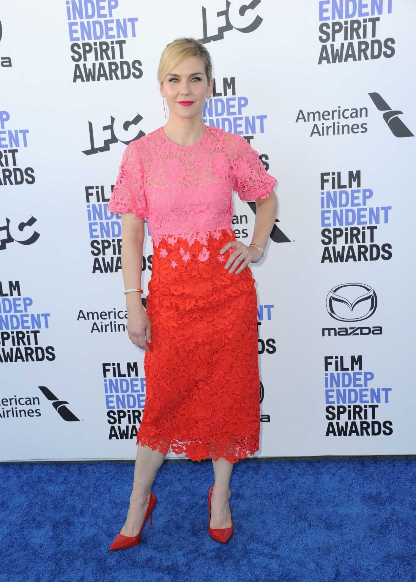 Rhea Seehorn Attends the 35th Film Independent Spirit Awards in Santa Monica 02/08/2020