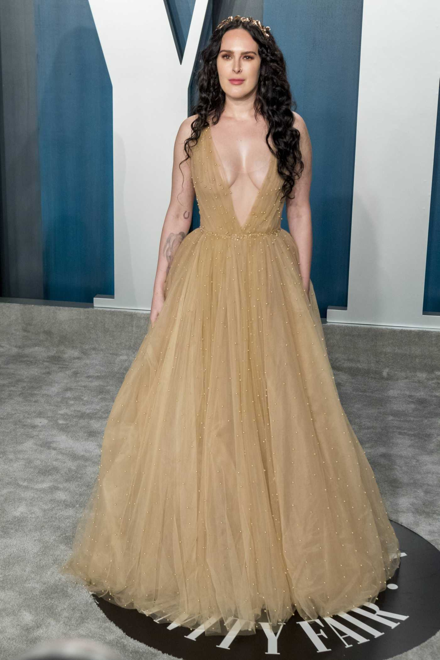 Rumer Willis Attends the 92nd Academy Awards Vanity Fair Oscar Party in Beverly Hills 02/09/2020