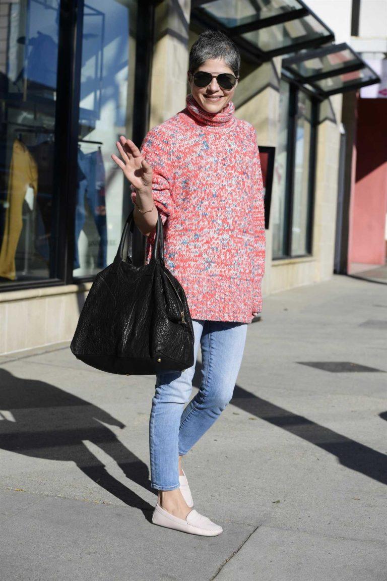 Selma Blair in a Red Sweater