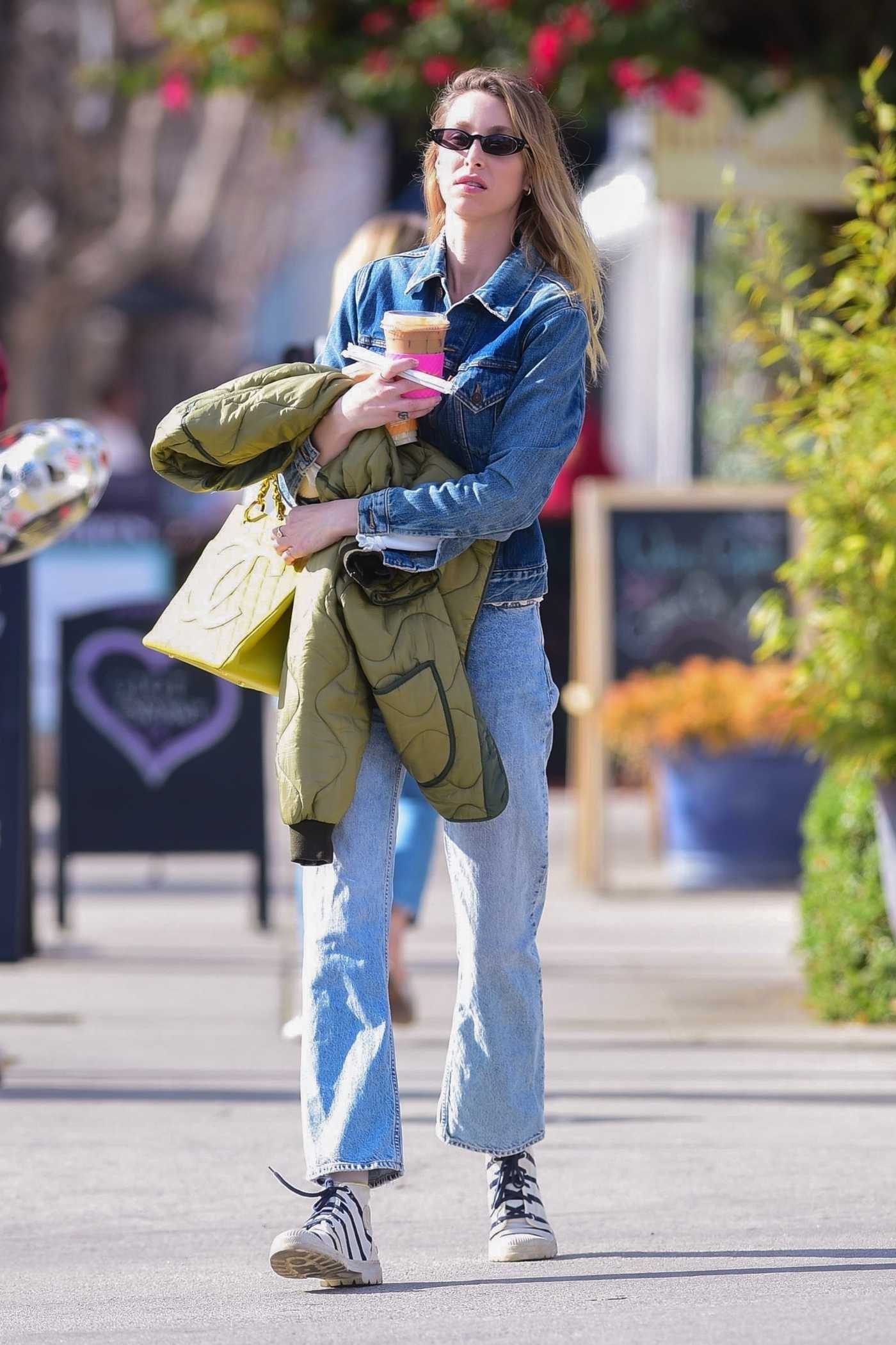 Whitney Port in a White Sneakers Out Shopping in Studio City 02/17/2020