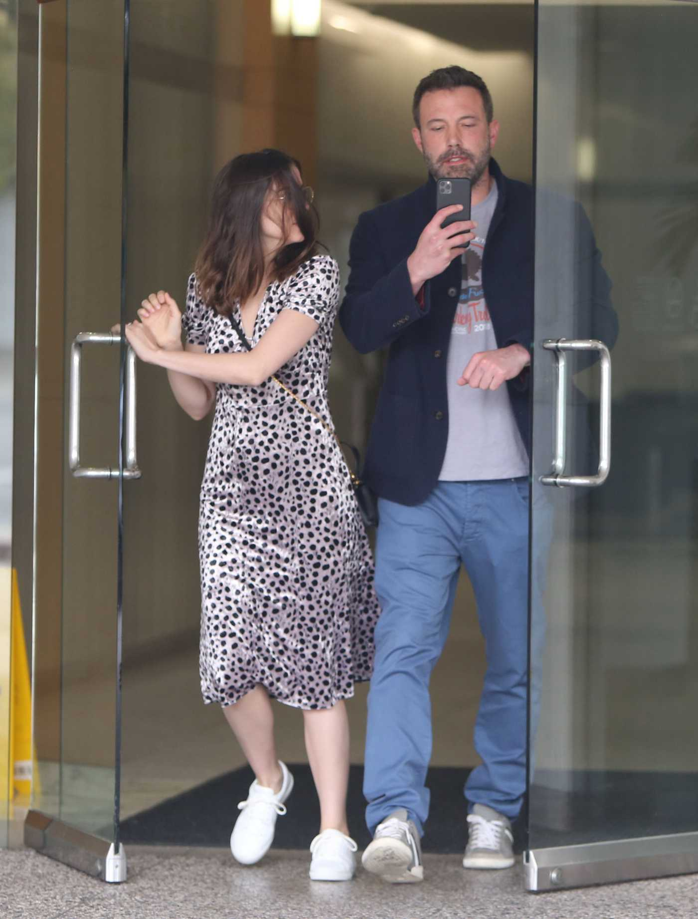 Ana de Armas Leaves an Office Building Out with Ben Affleck in Los Angeles 03/20/2020