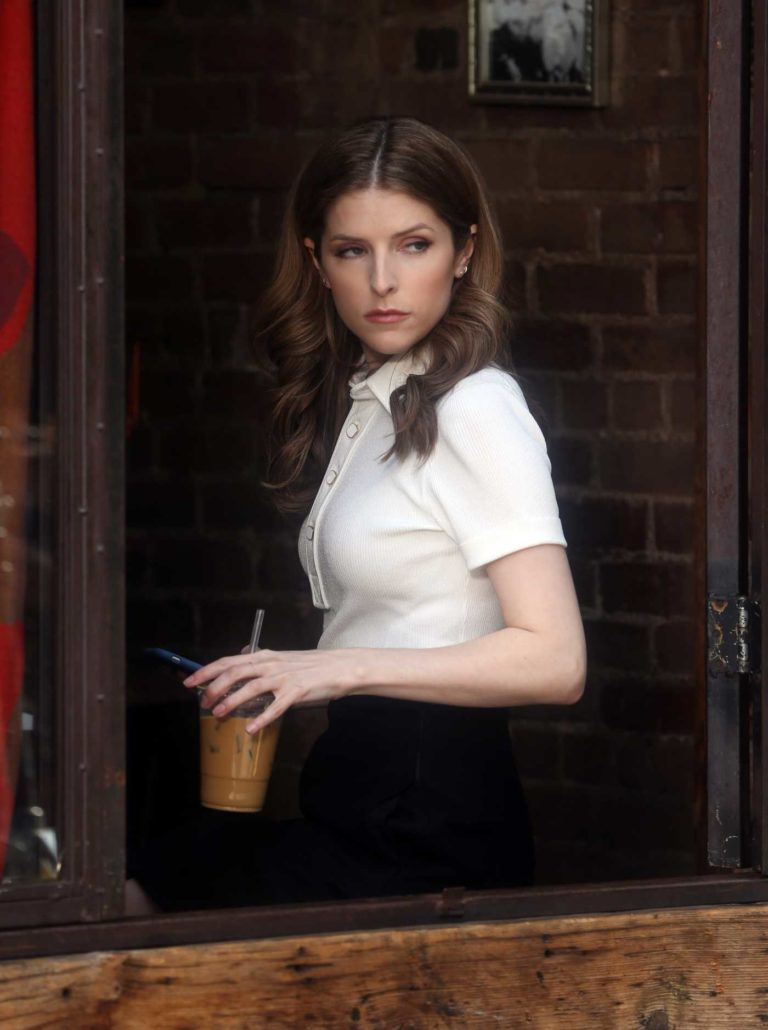 Anna Kendrick in a White Blouse