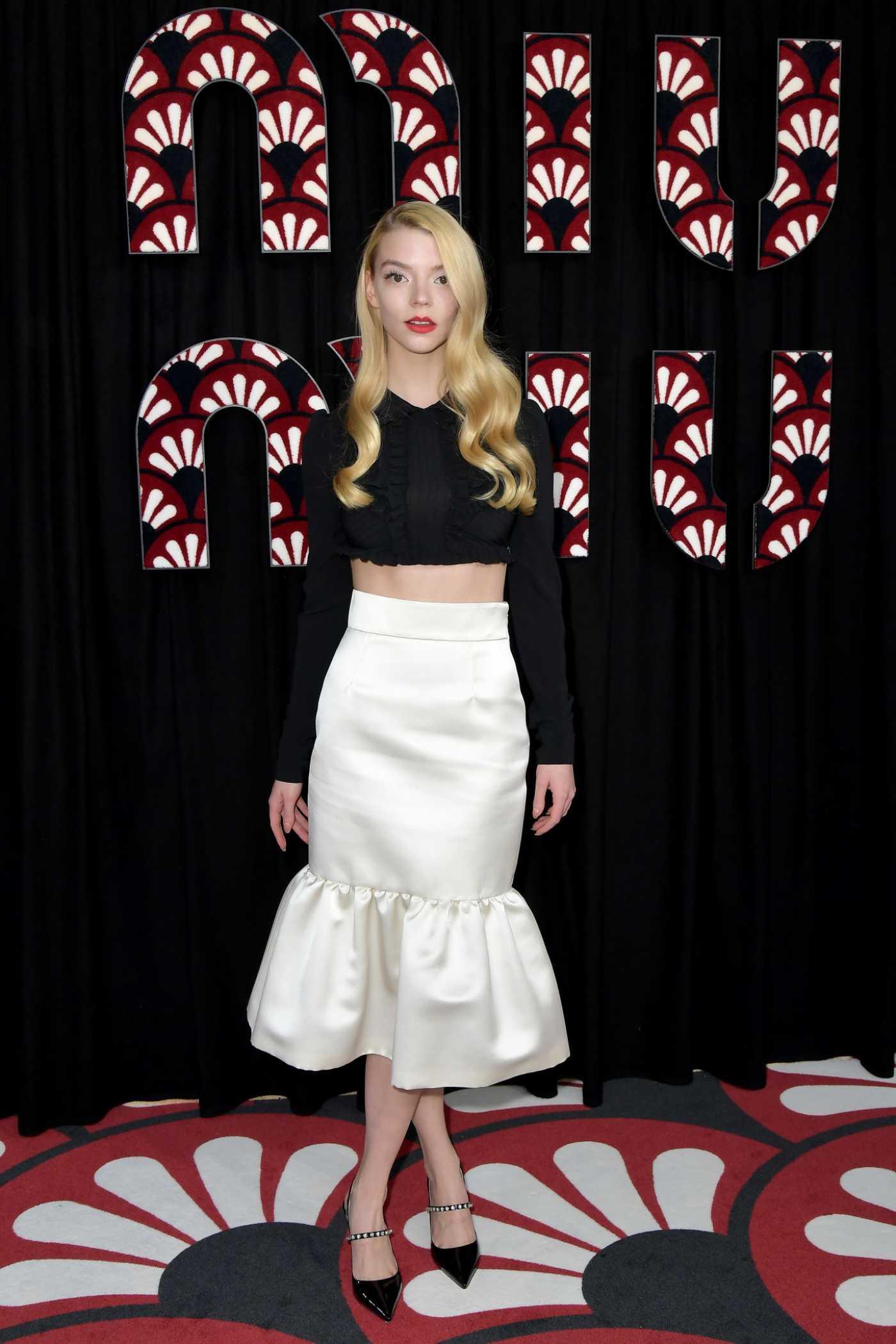 Anya Taylor-Joy Attends 2020 Miu Miu Fashion Show in Paris 03/03/2020