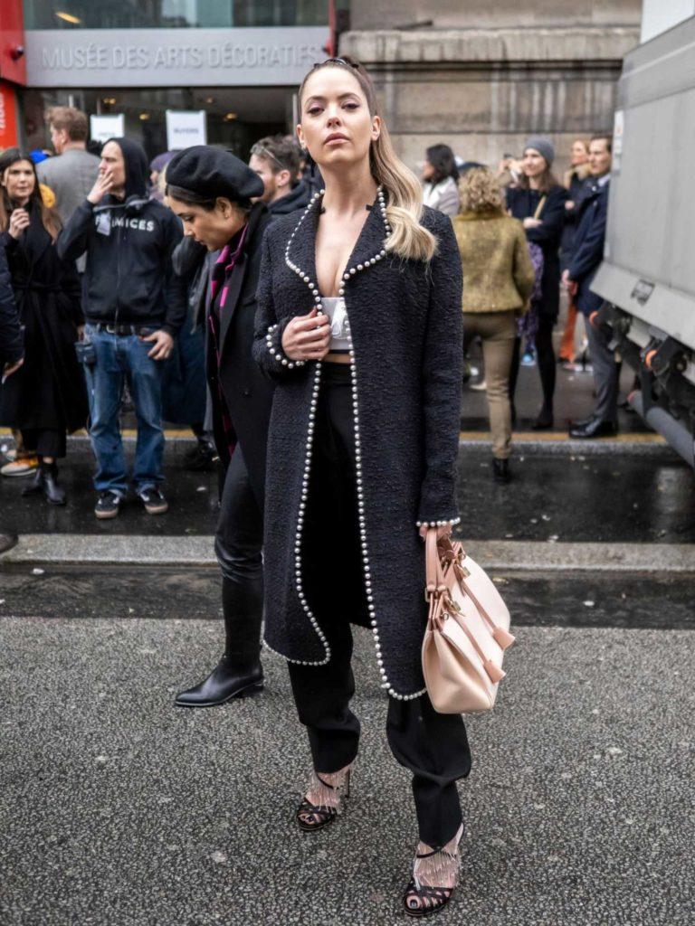 Ashley Benson in a Black Cardigan