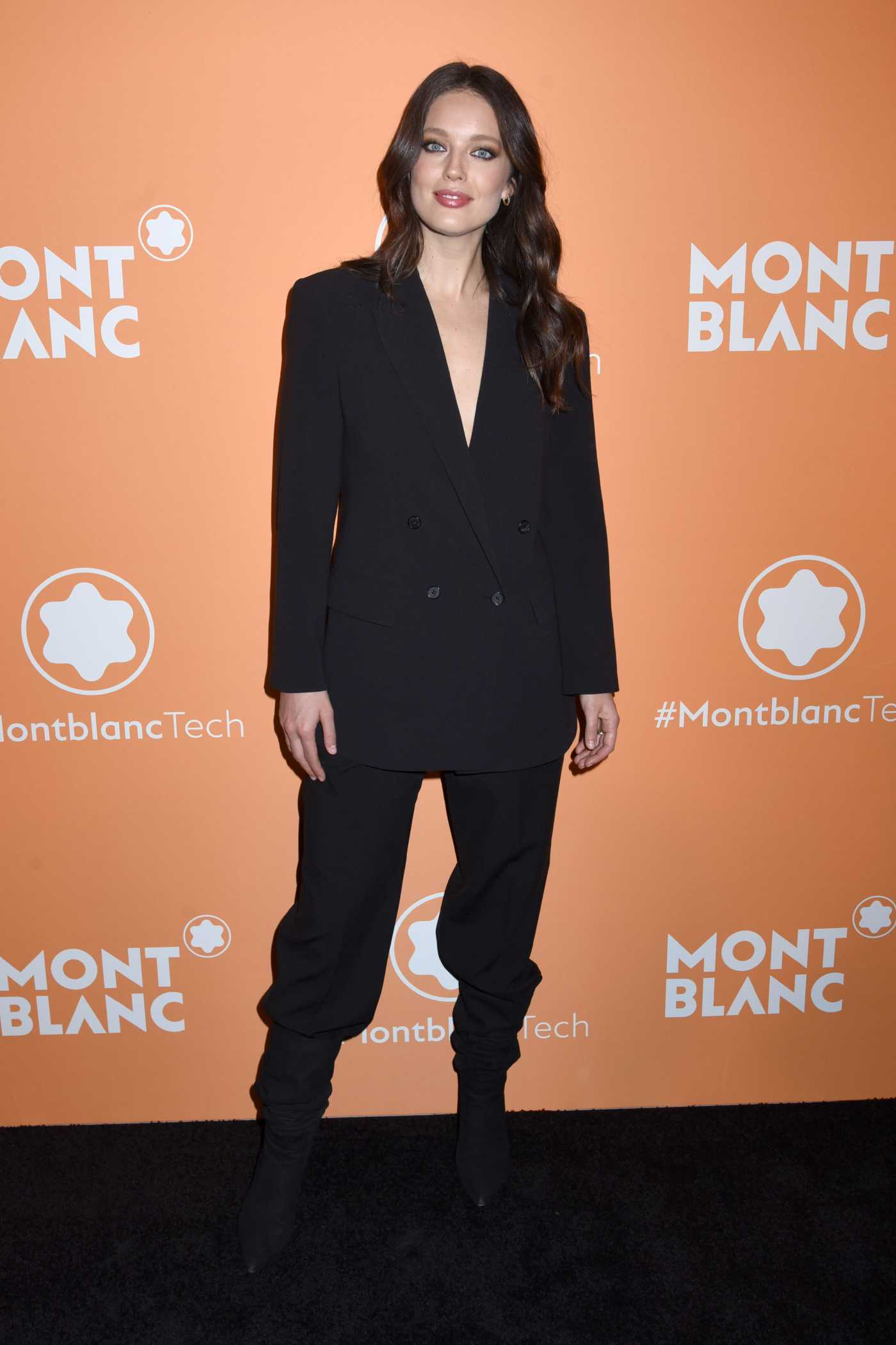 Emily DiDonato Attends the Montblanc MB 01 Headphones Launch in NYC 03/10/2020