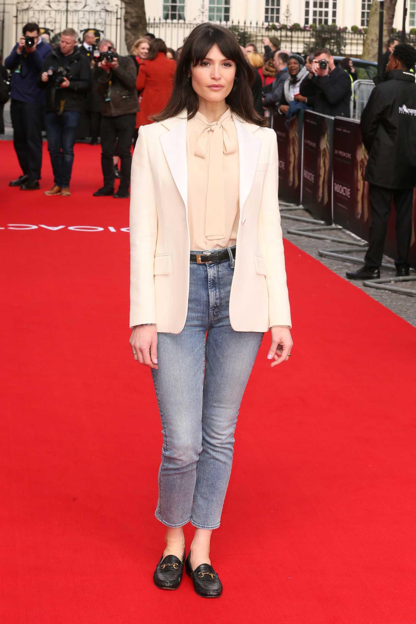 Gemma Arterton Attends the Radioactive Premiere in London 03/08/2020