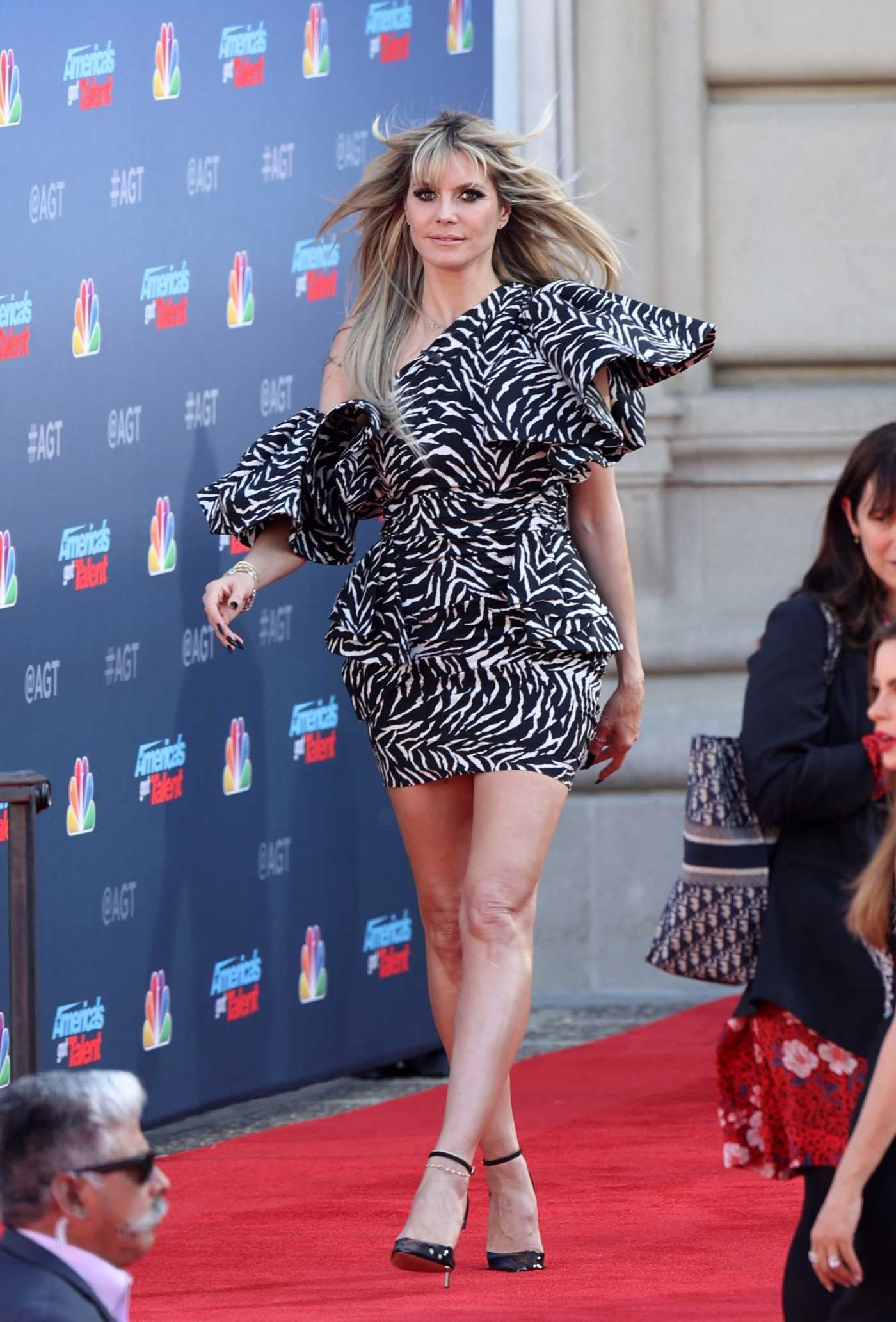 Heidi Klum Attends the America's Got Talent Season 15 Kickoff at Pasadena Civic Auditorium in Pasadena 03/04/2020