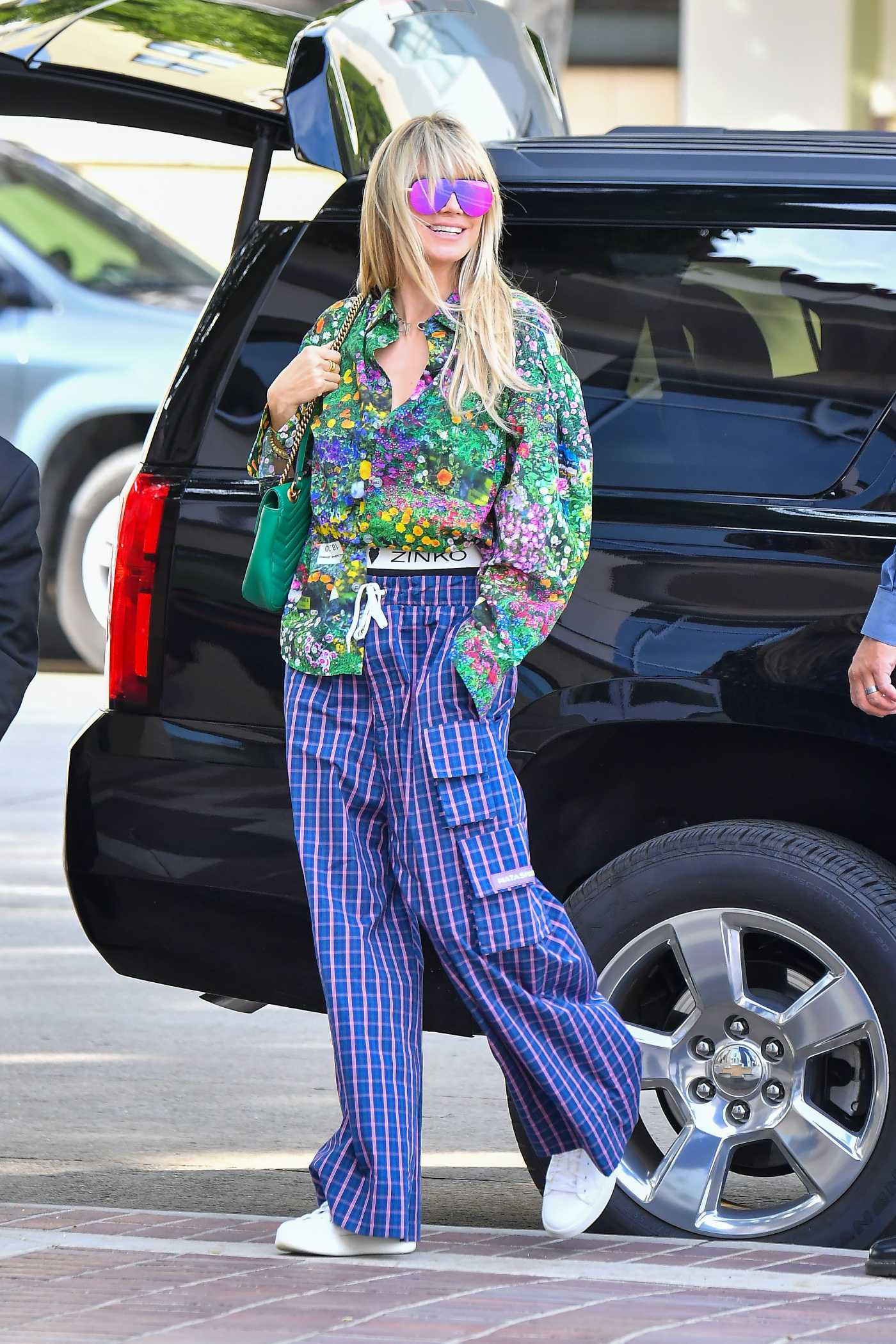 Heidi Klum in a Colorful Outfit Was Seen Out with Her Daughter in Pasadena 03/05/2020
