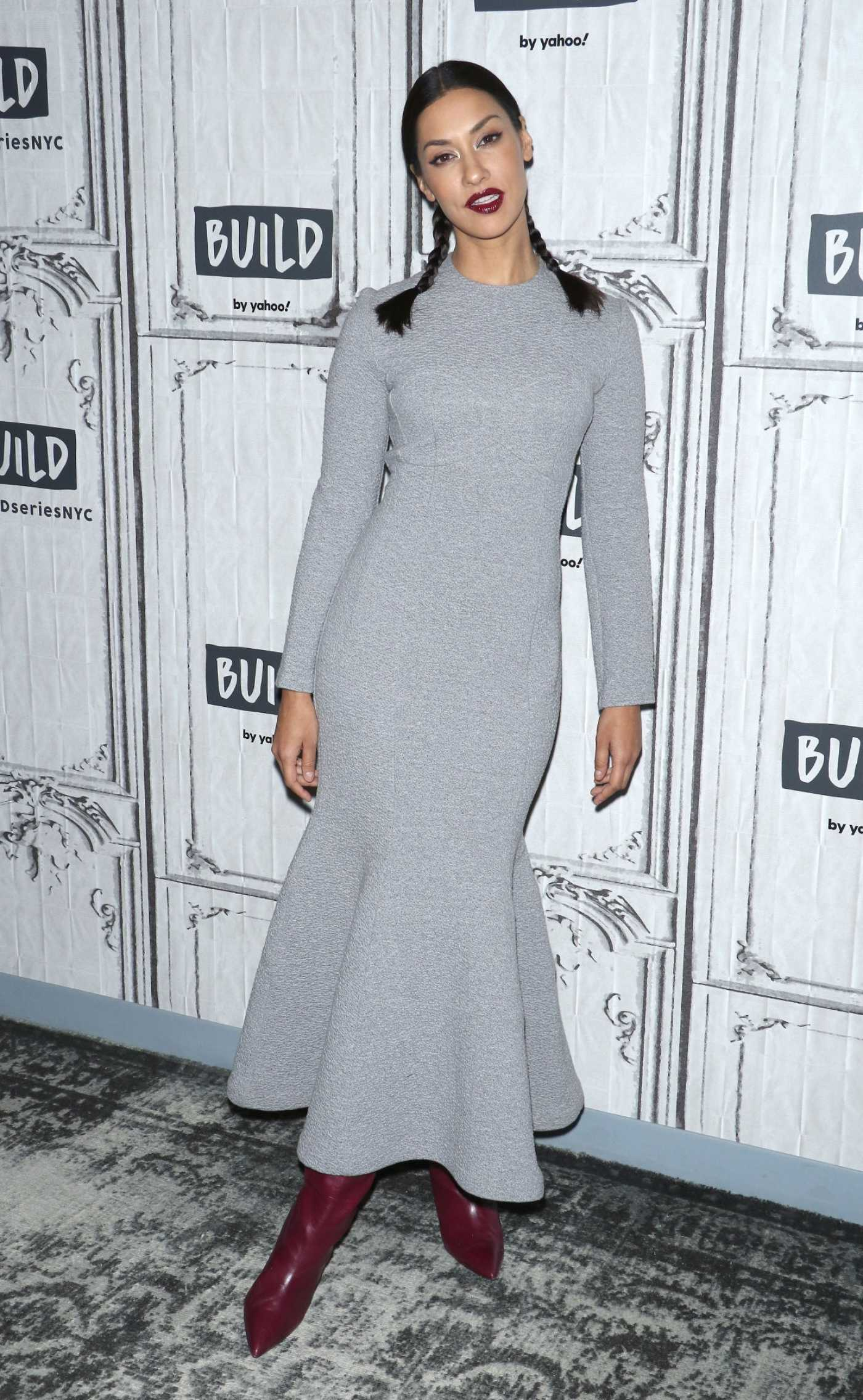 Janina Gavankar Attends the Build Series at Build Studio in New York City 03/04/2020
