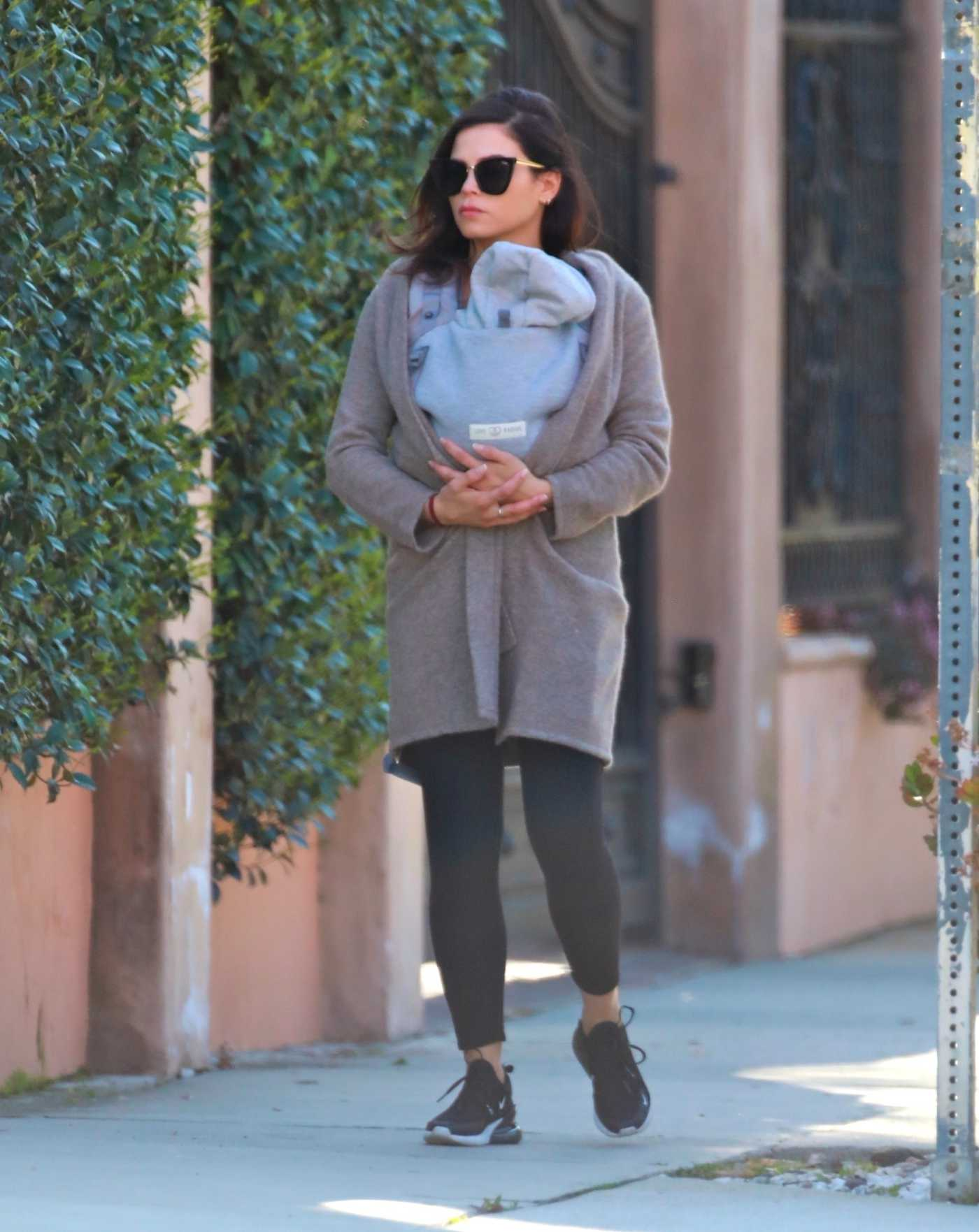 Jenna Dewan in a Black Leggings Was Seen Out with Her Baby Michael in Los Angeles 03/30/2020