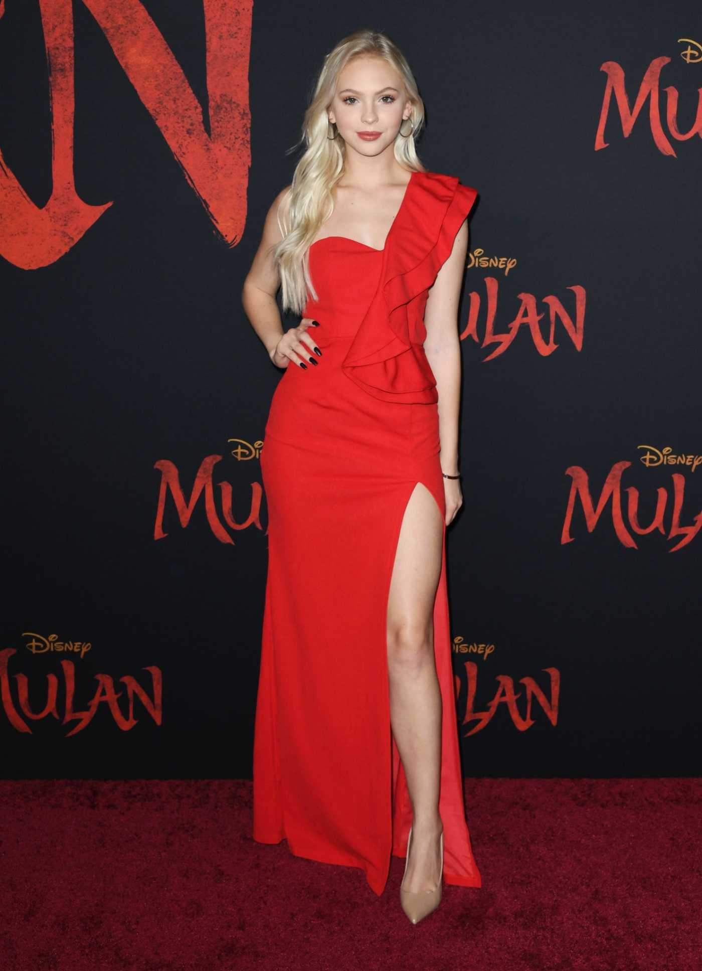 Jordyn Jones Attends the Mulan World Premiere in Hollywood 03/09/2020