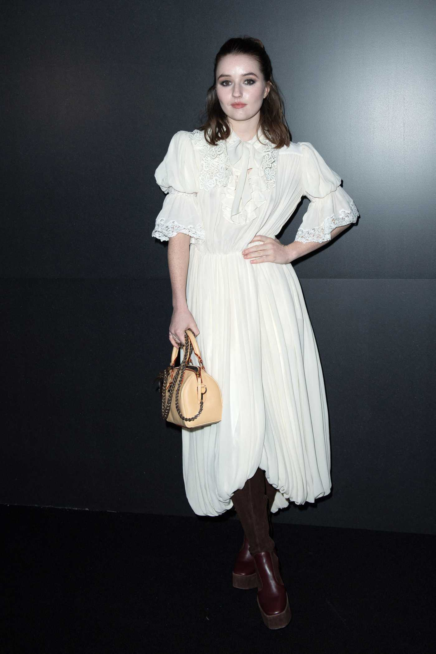 Kaitlyn Dever Attends 2020 Louis Vuitton Fashion Show in Paris 03/03/2020