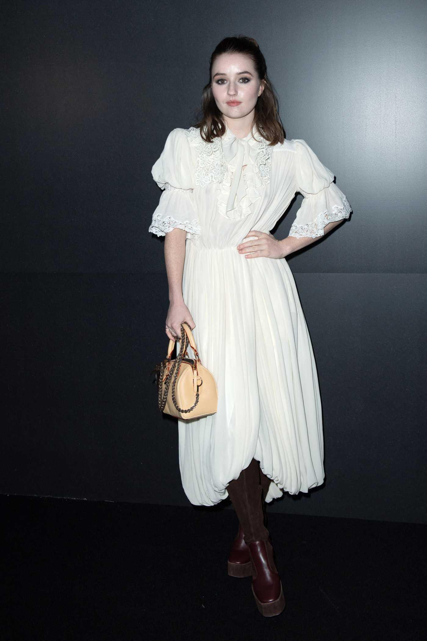 Kaitlyn Dever Attends 2020 Louis Vuitton Fashion Show in Paris 03/03/2020