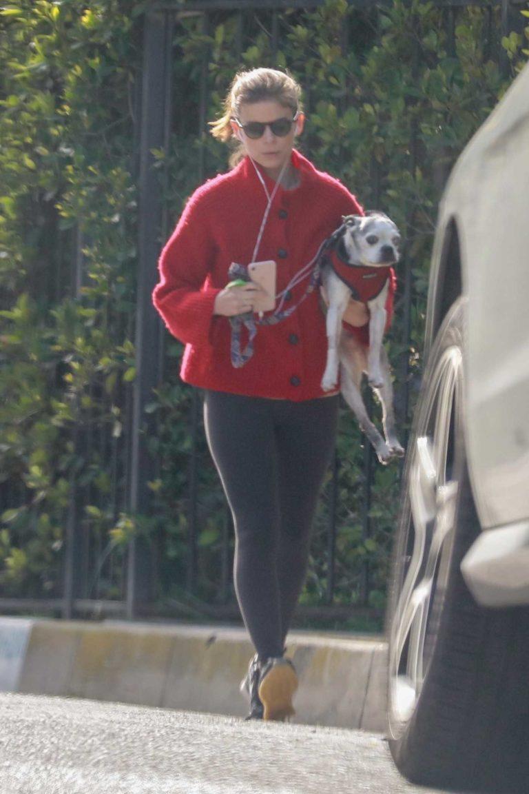 Kate Mara in a Red Cardigan