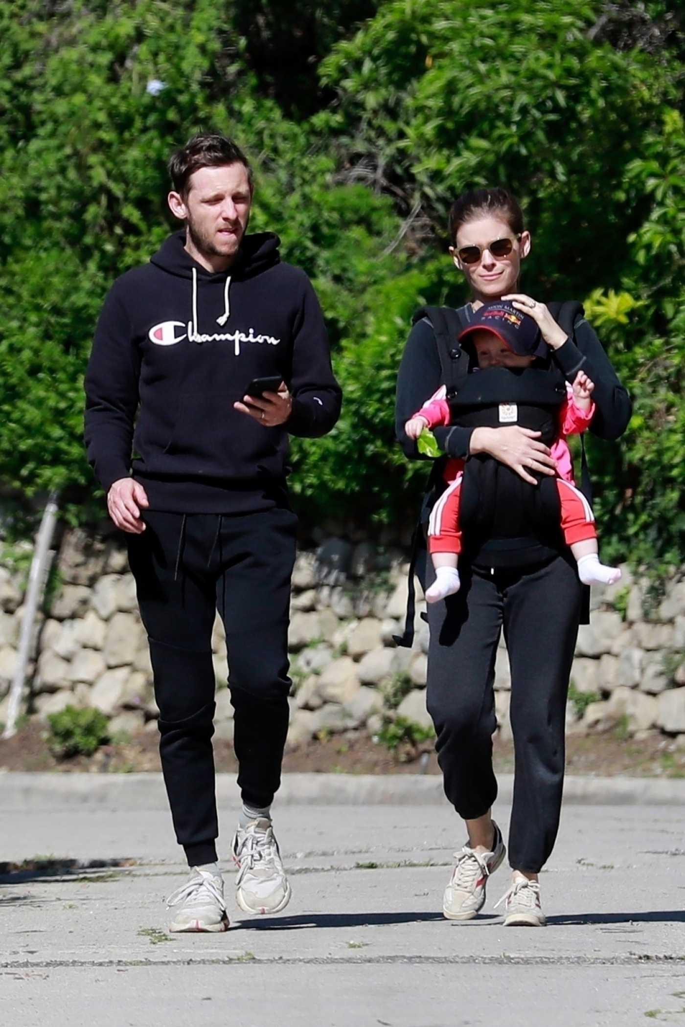 Kate Mara in a White Sneakers Was Seen Out with Jamie Bell in Los Feliz 03/30/2020