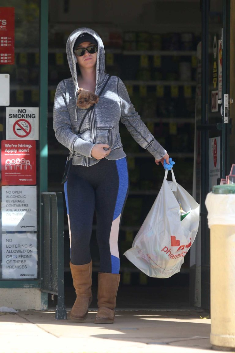 Katy Perry in a Gray Hoody