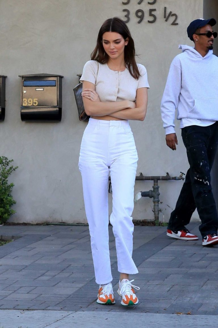 Kendall Jenner in a White Pants