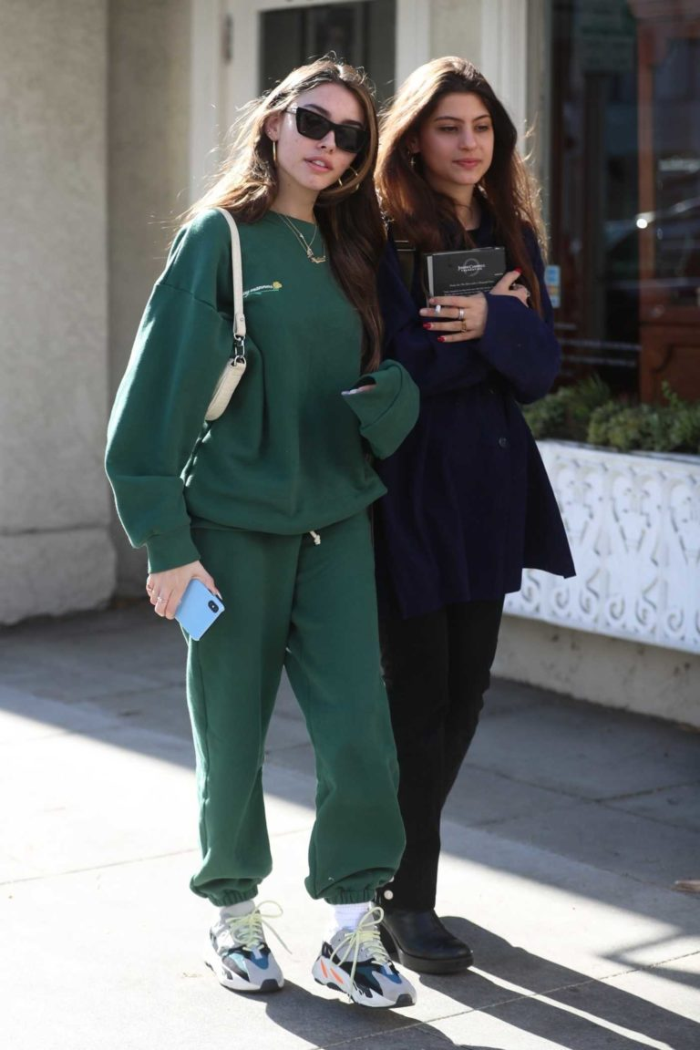 Madison Beer in a Green Sweatsuit