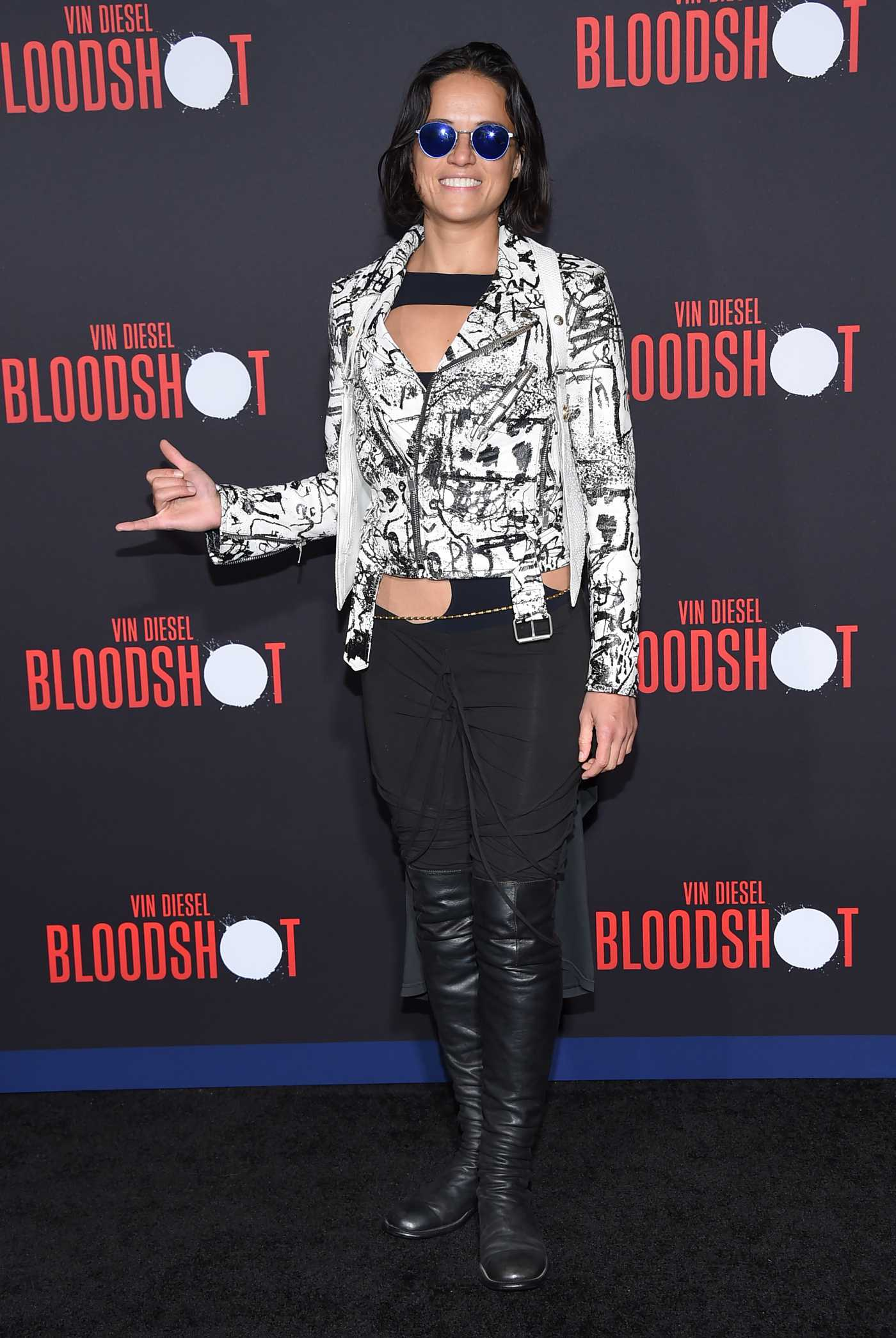 Michelle Rodriguez Attends the Bloodshot Premiere in Los Angeles 03/10/2020