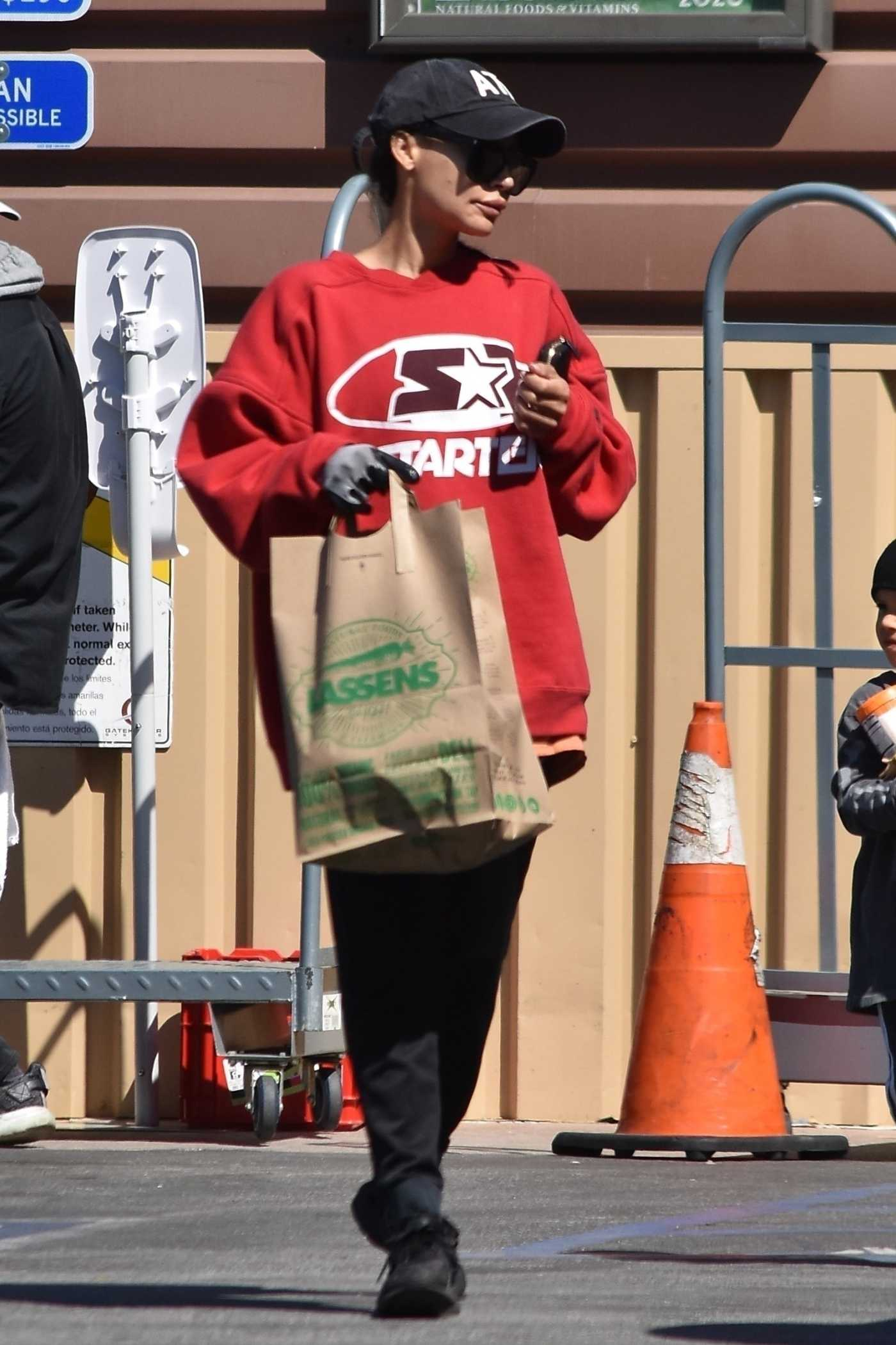 Naya Rivera in a Red Sweatshirt Was Seen Out in Los Feliz 03/27/2020