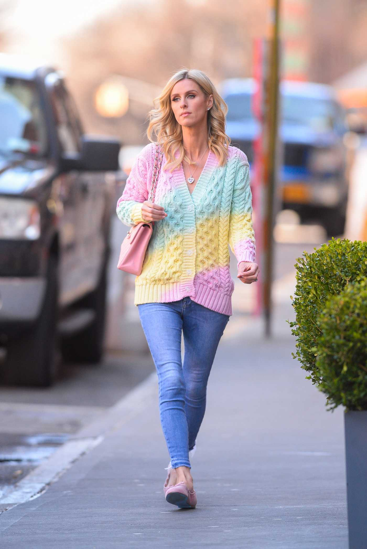 Nicky Hilton in a Blue Jeans Was Seen Out in New York 03/09/2020