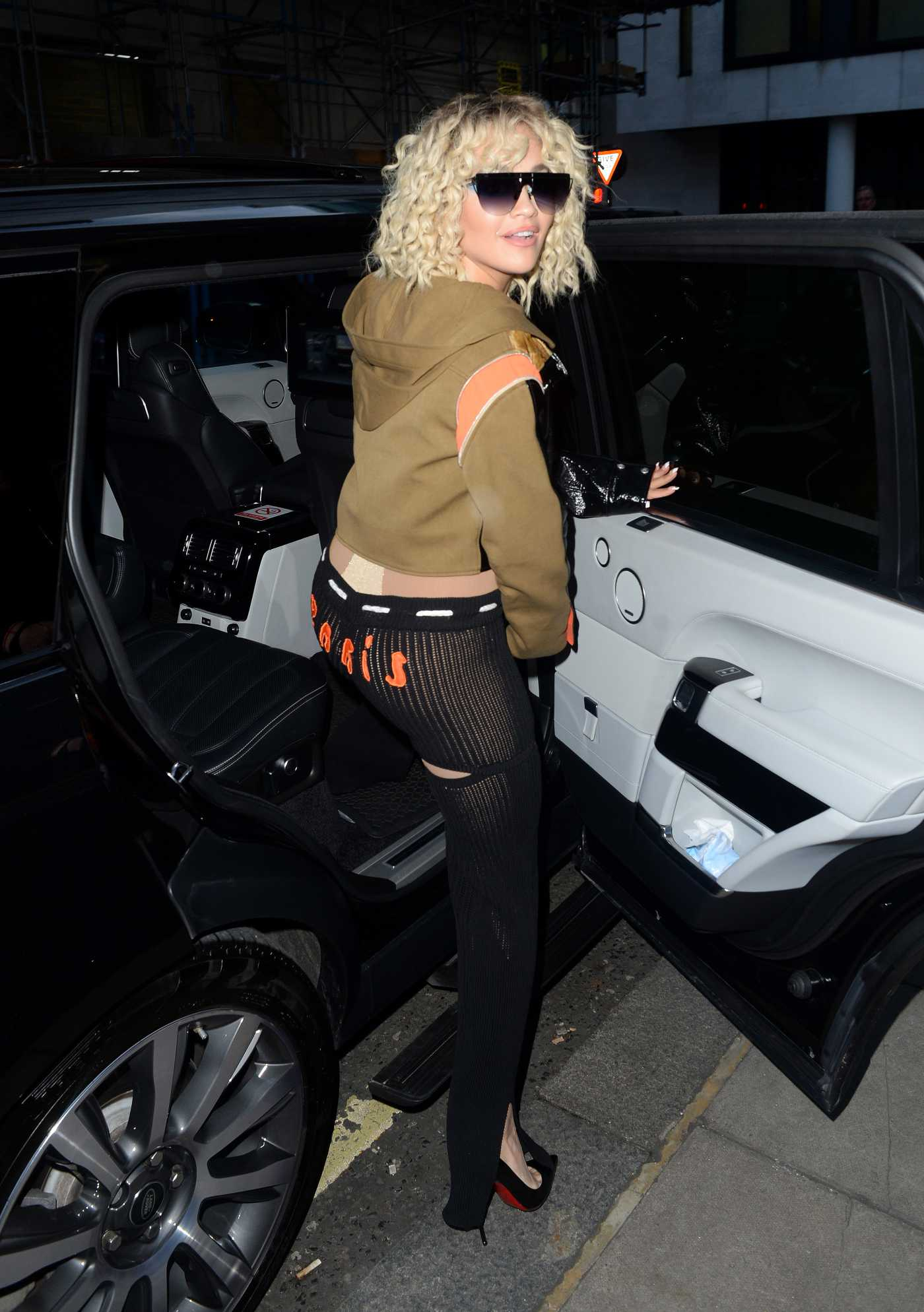 Rita Ora in a Black Pants Was Seen Out in London 03/16/2020