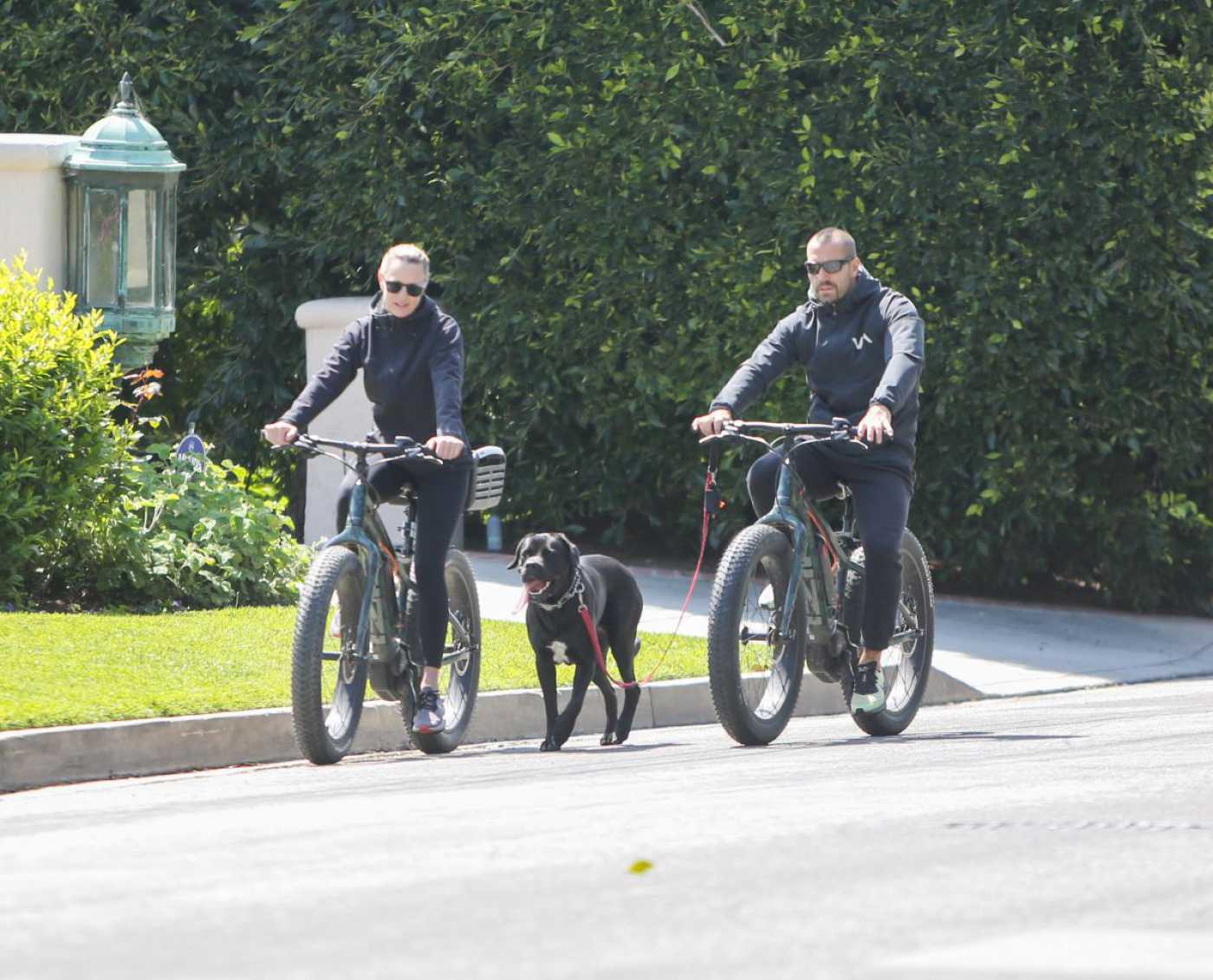 Robin Wright Takes a Bike Ride Out with Clement Giraudet in Los Angeles 03/28/2020