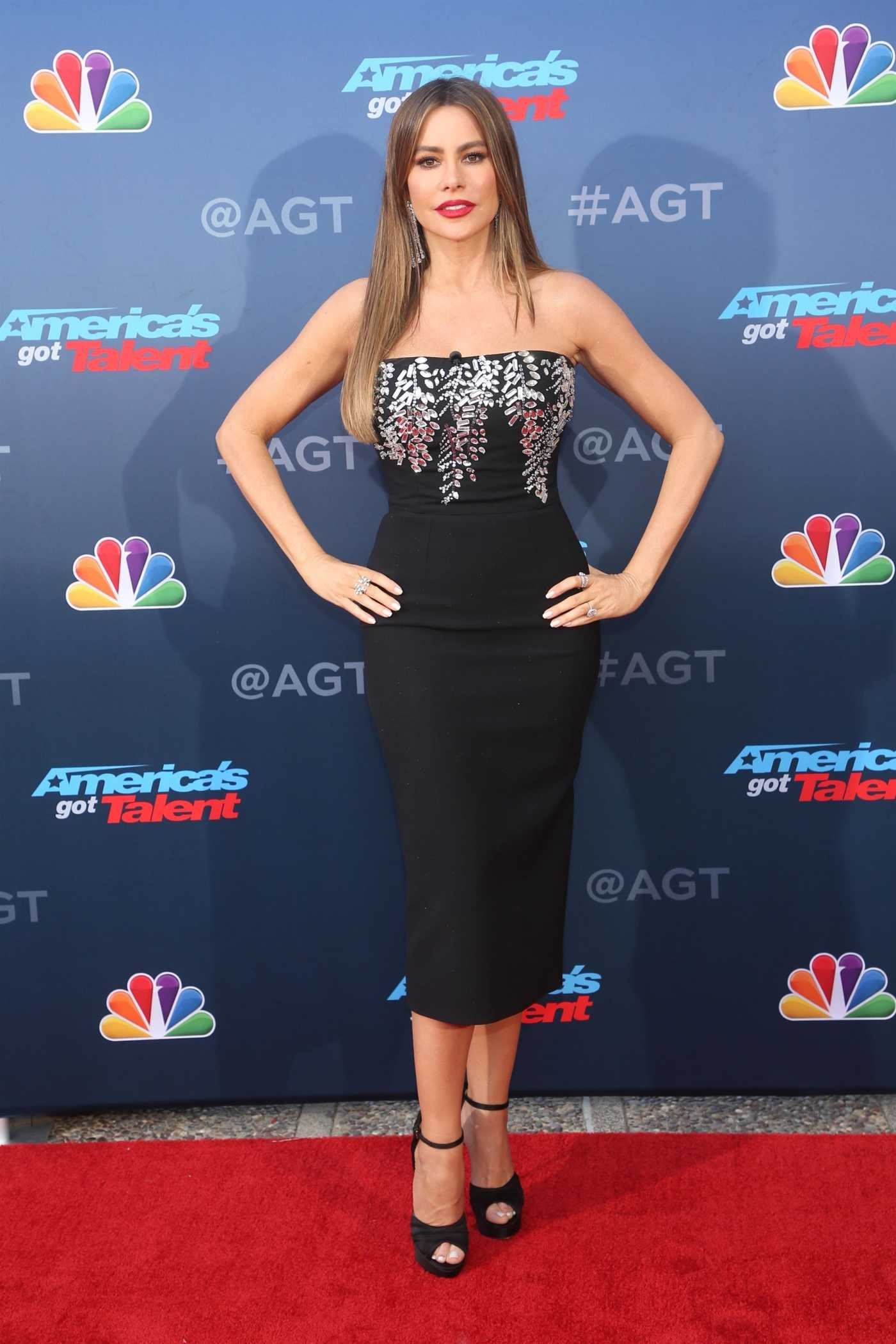 Sofia Vergara Attends the America's Got Talent Season 15 Kickoff at Pasadena Civic Auditorium in Pasadena 03/04/2020
