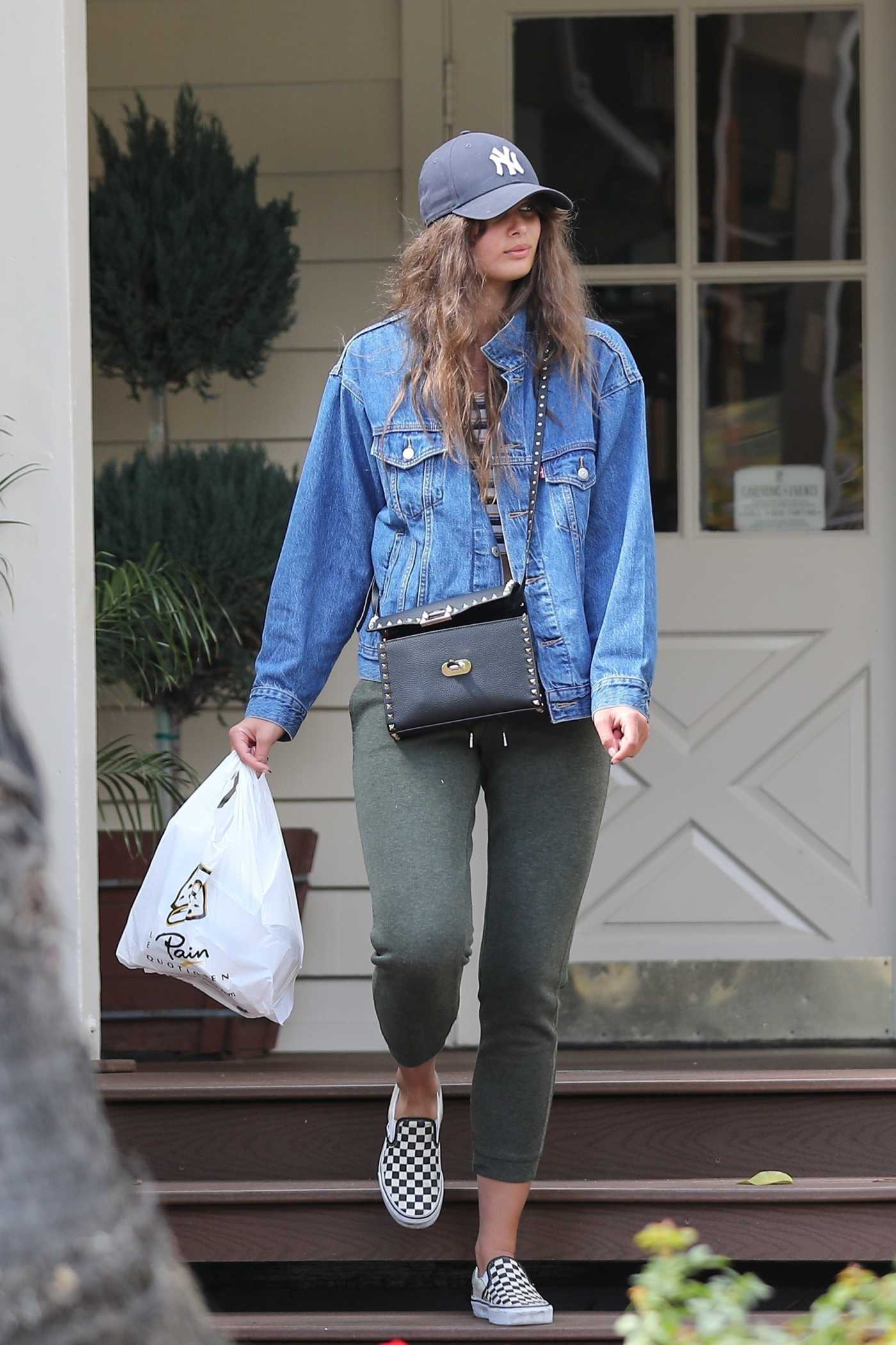Taylor Hill in a Gray Cap Was Seen Out in Beverly Hills 03/11/2020