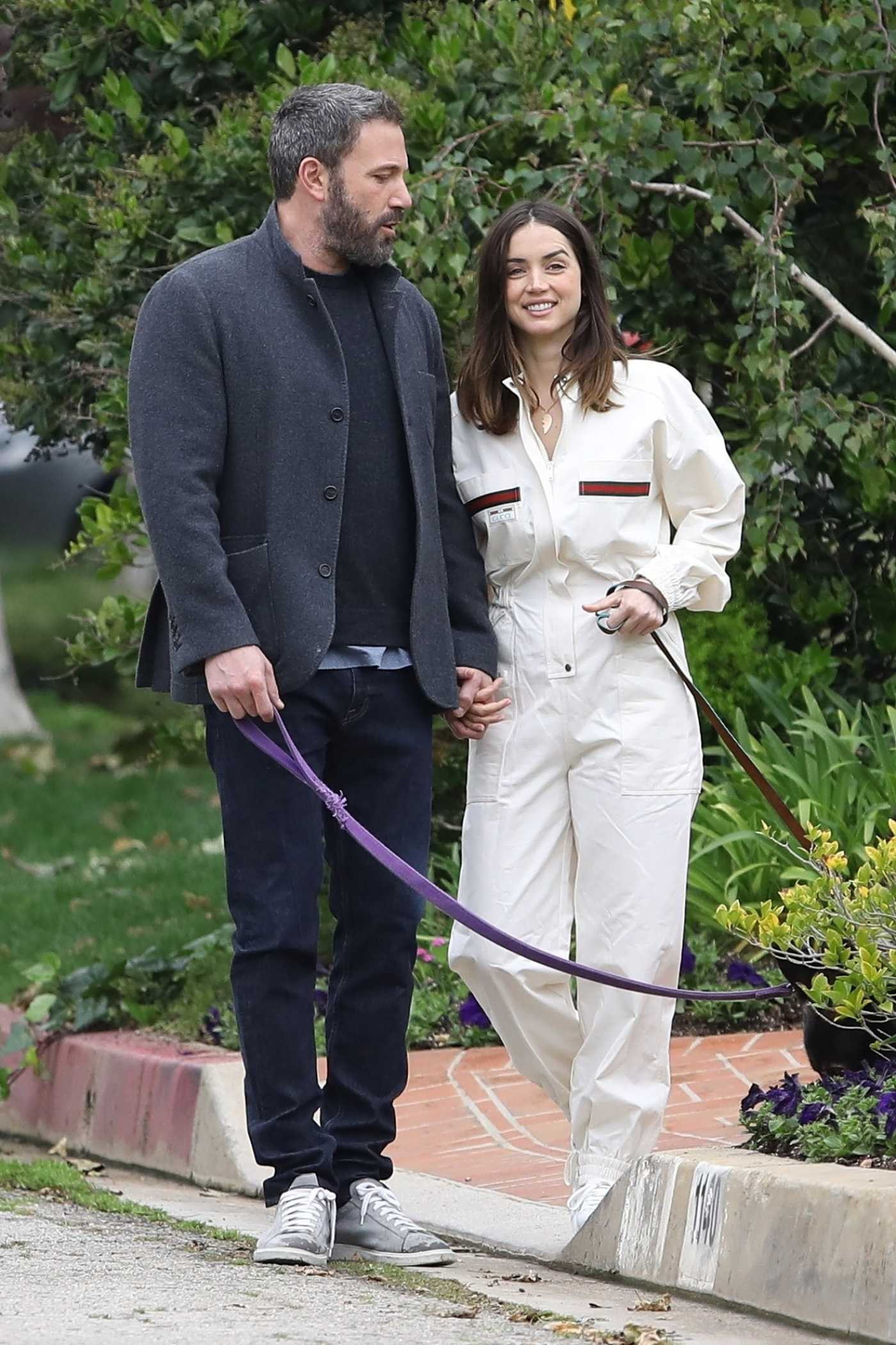 Ana De Armas in a White Jumpsuit Was Seen Out with Ben Affleck in Pacific Palisades 04/12/2020