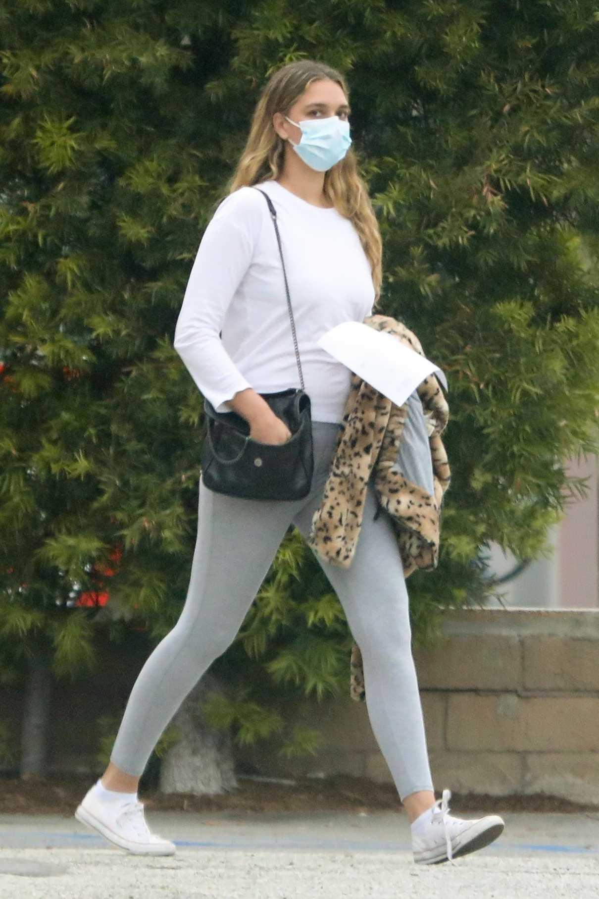 April Love Geary in a Gray Leggings Was Seen Out in Malibu 04/16/2020