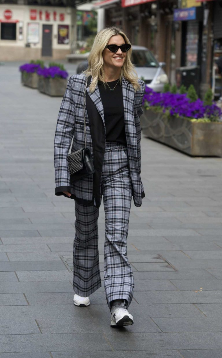 Ashley Roberts in a Plaid Suit