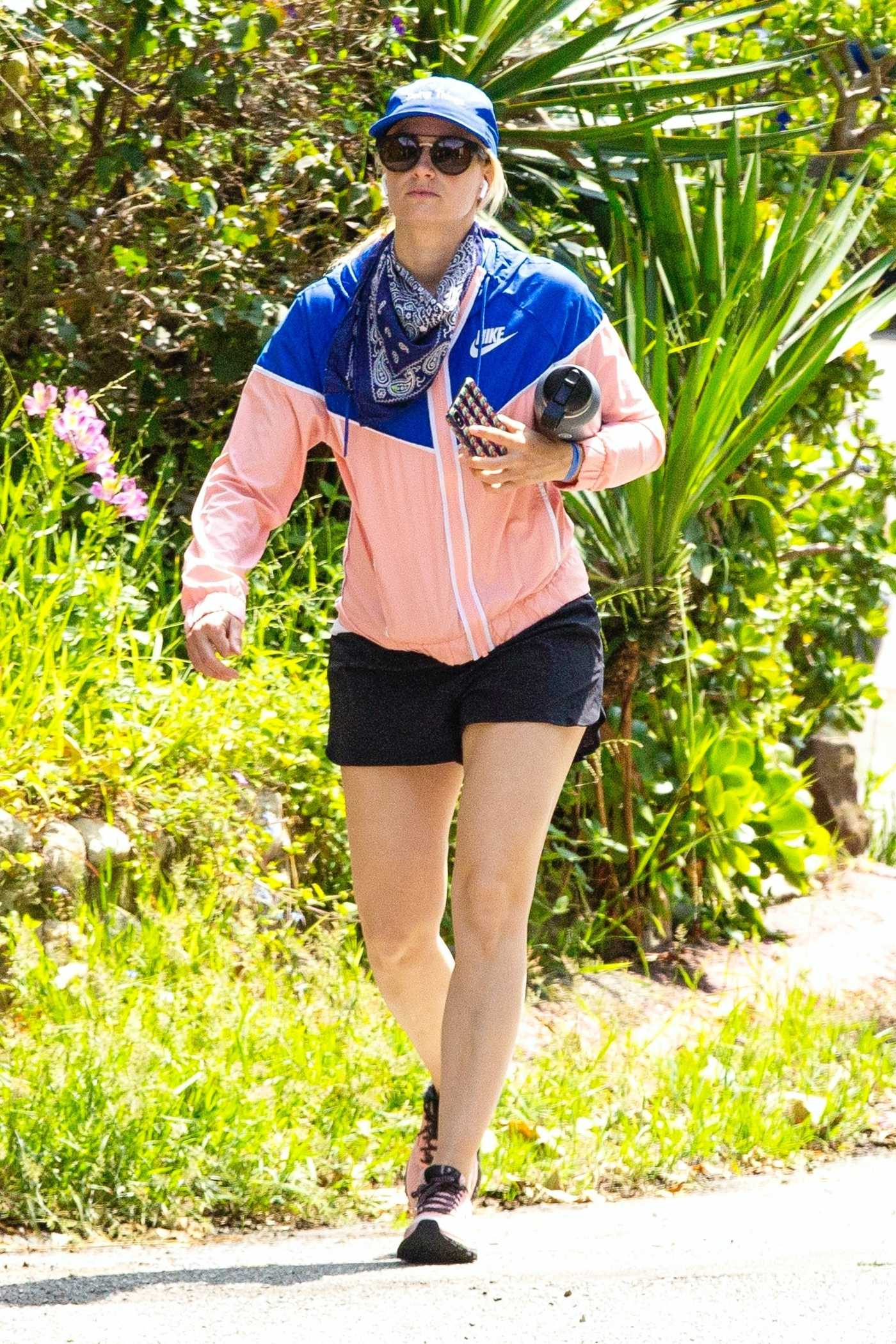 Beth Behrs in a Blue Cap Was Seen Out in Los Angeles 04/20/2020