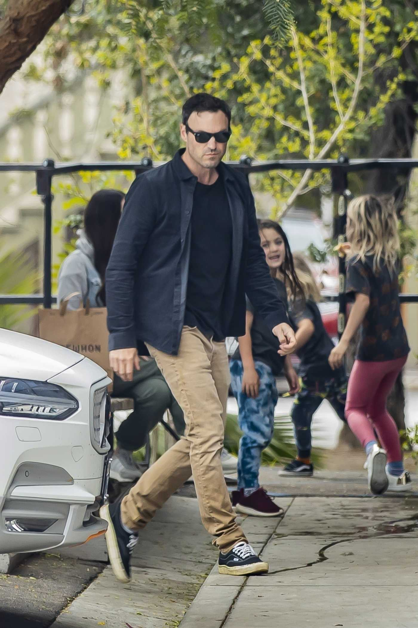 Brian Austin Green Was Seen Out with Megan Fox and Their Children in Calabasas 04/04/2020