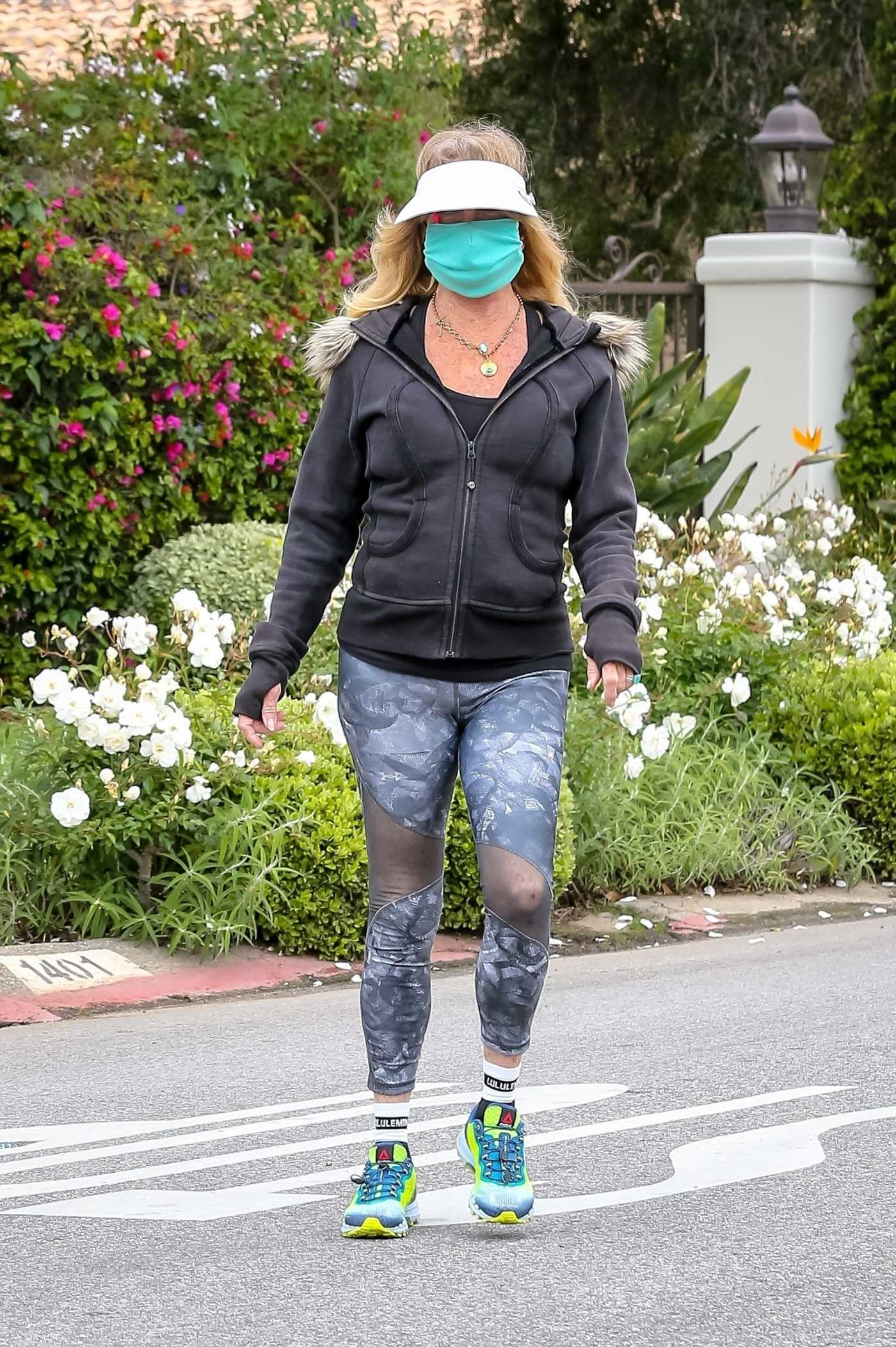 Goldie Hawn in a Face Mask Was Seen Out in Pacific Palisades 04/18/2020