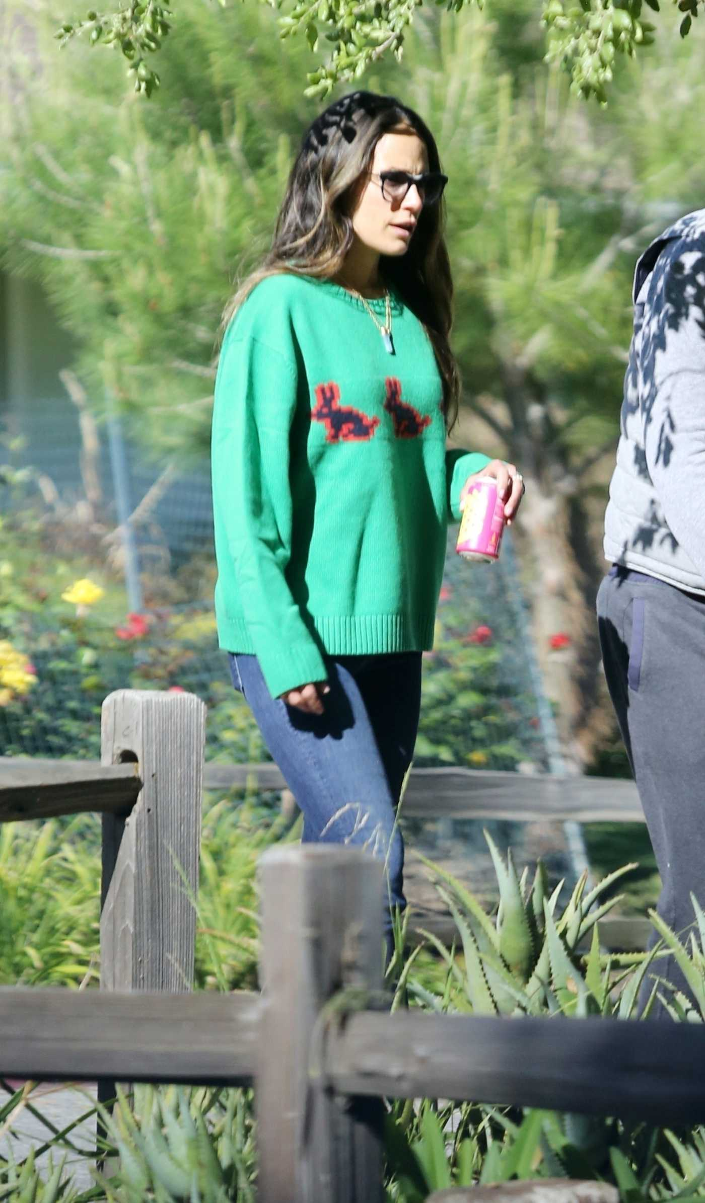Jordana Brewster in a Green Sweater Was Seen Out in Brentwood 04/19/2020