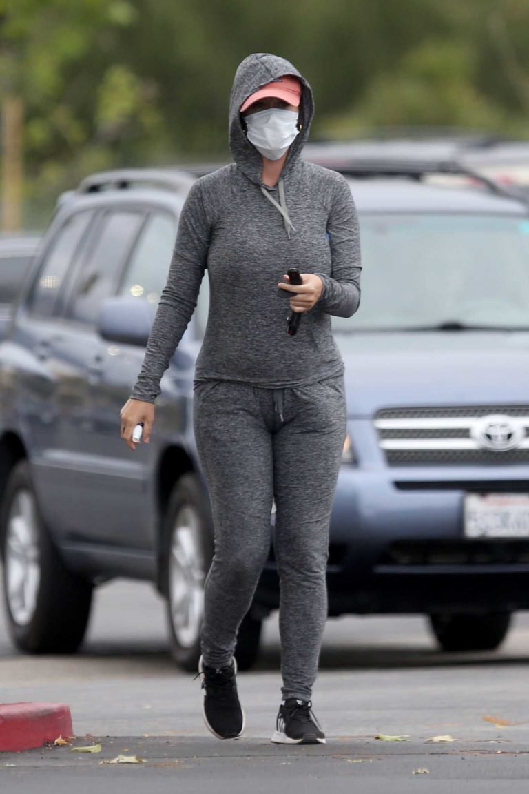 Katy Perry in a Face Mask