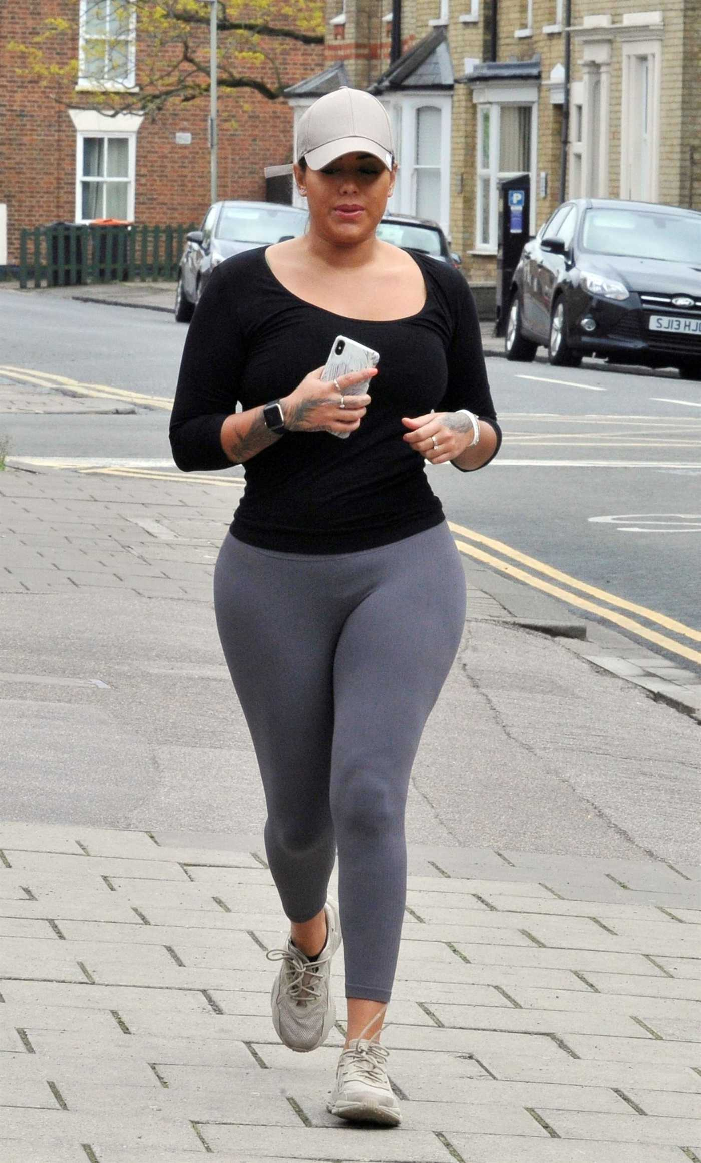 Malin Andersson in a Gray Leggings Was Seen Out in London 04/27/2020