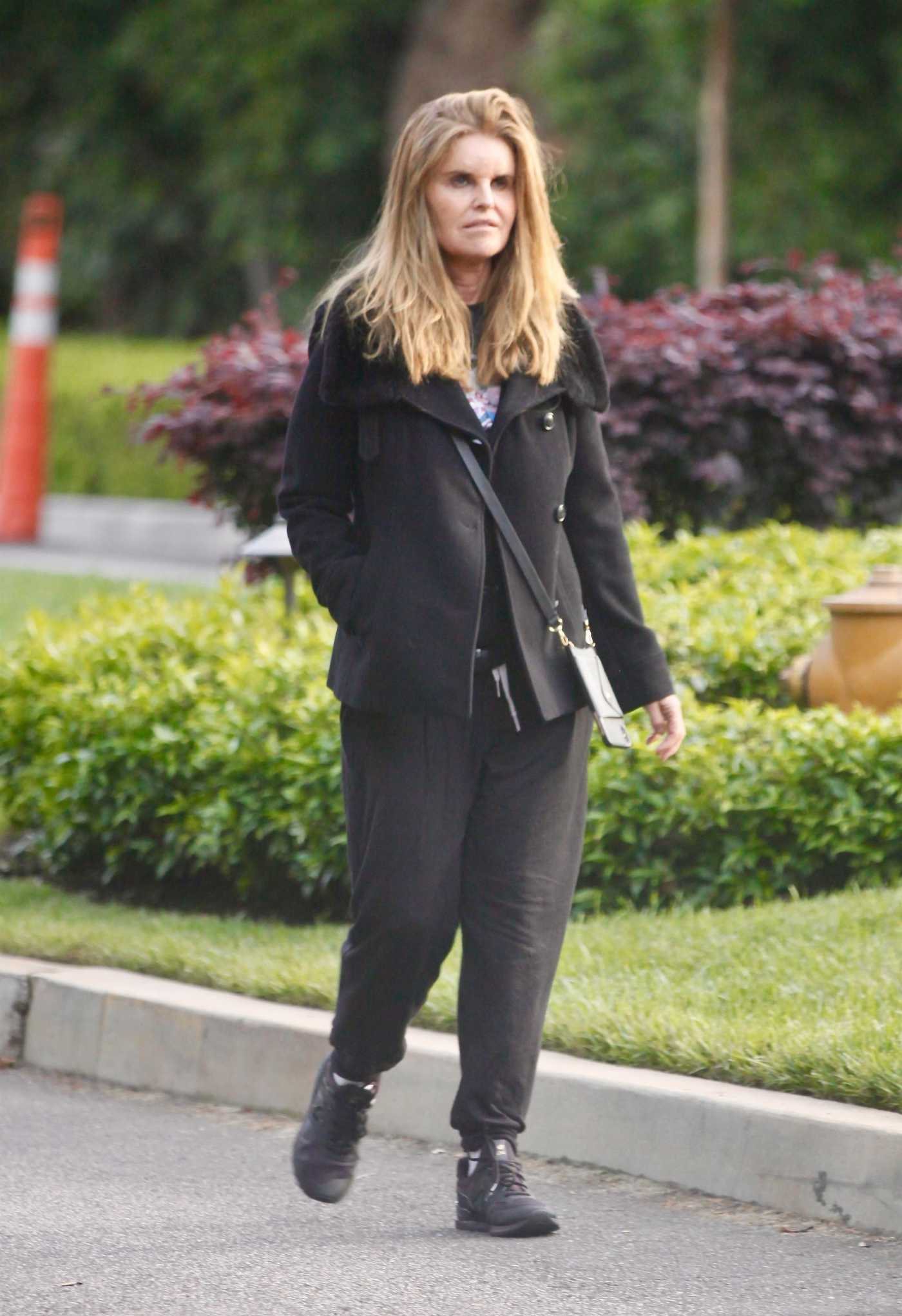 Maria Shriver in a Black Sneakers Was Seen Out in Brentwood 04/29/2020