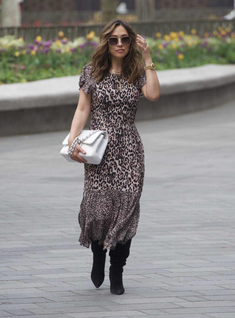 Myleene Klass in an Animal Print Dress