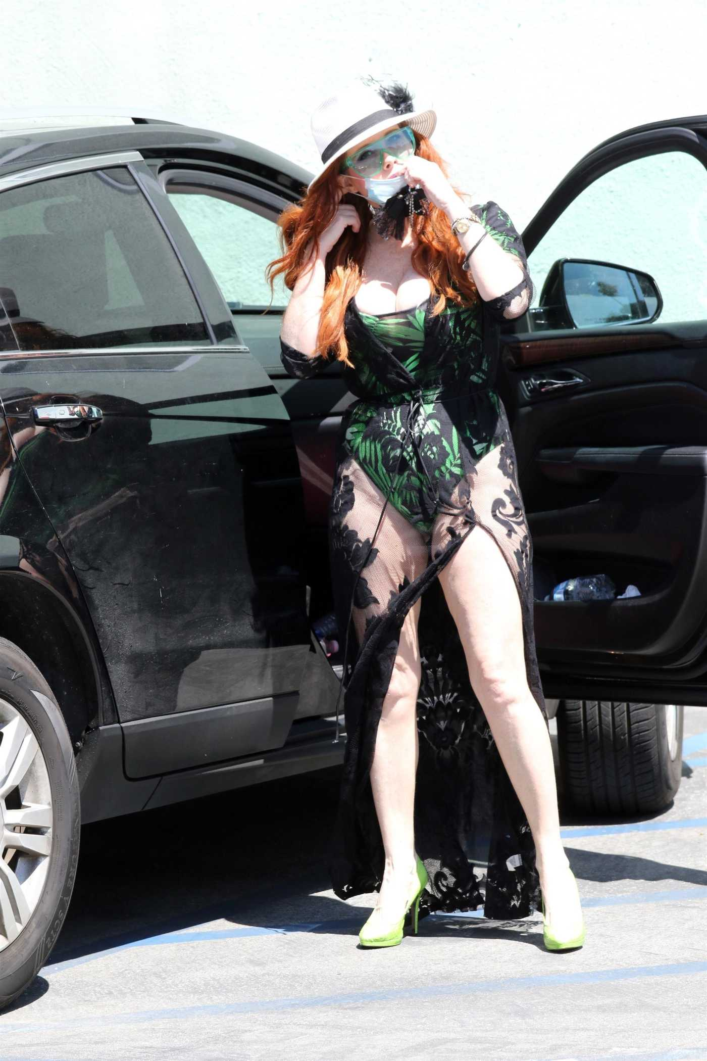 Phoebe Price in a See-Through Dress Was Seen Out in Los Angeles 04/21/2020