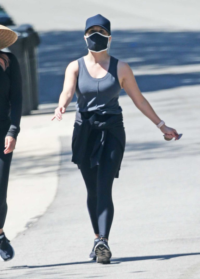 Reese Witherspoon in a Black Face Mask