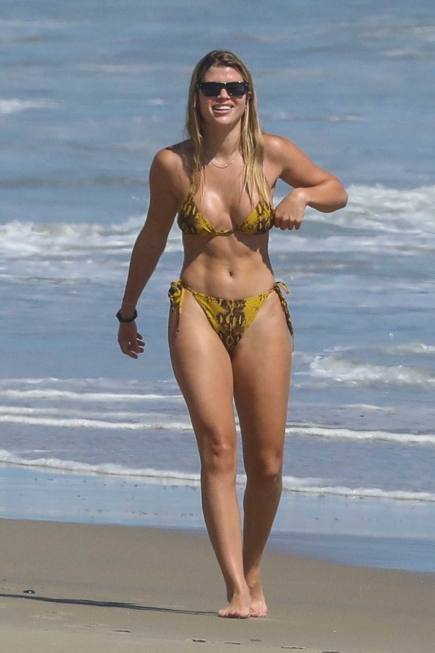 Sofia Richie in Bikini on the Beach in Malibu 04/23/2020