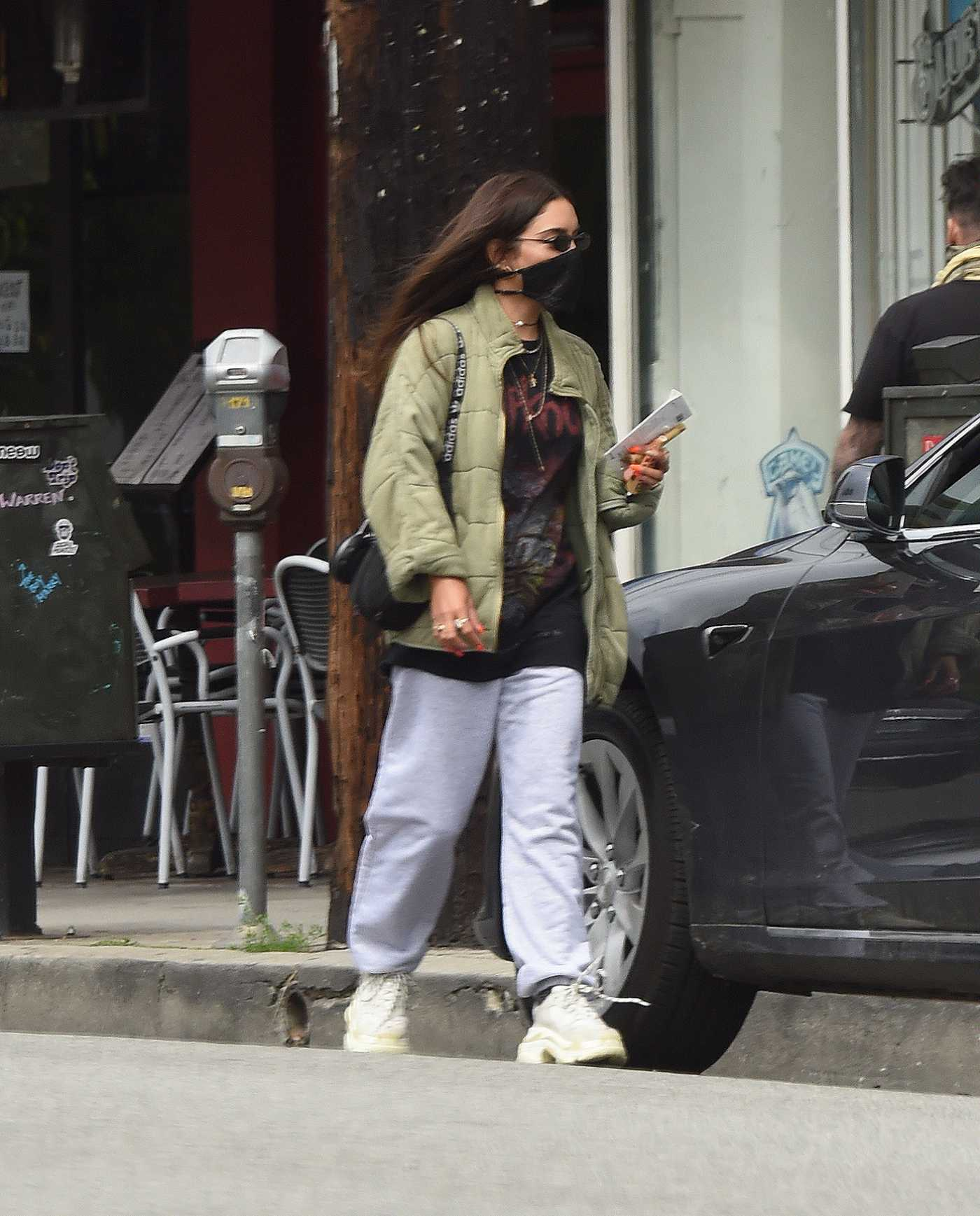 Vanessa Hudgens in a Black Face Mask Was Seen Out in Los Angeles 04/19/2020