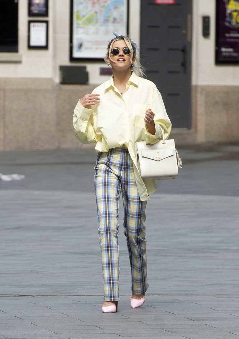 Ashley Roberts in a Plaid Pants