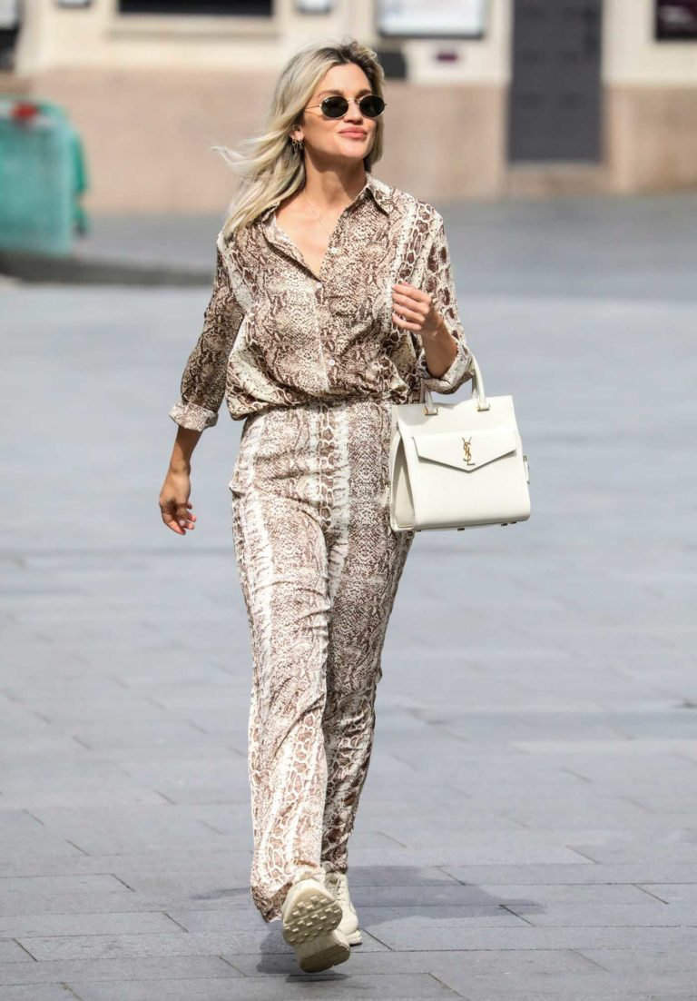 Ashley Roberts in a Snakeskin Print Suit