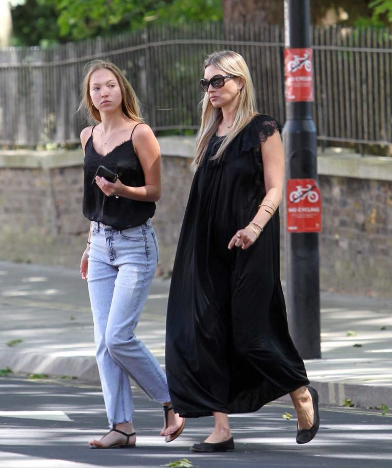 Kate Moss in a Black Dress