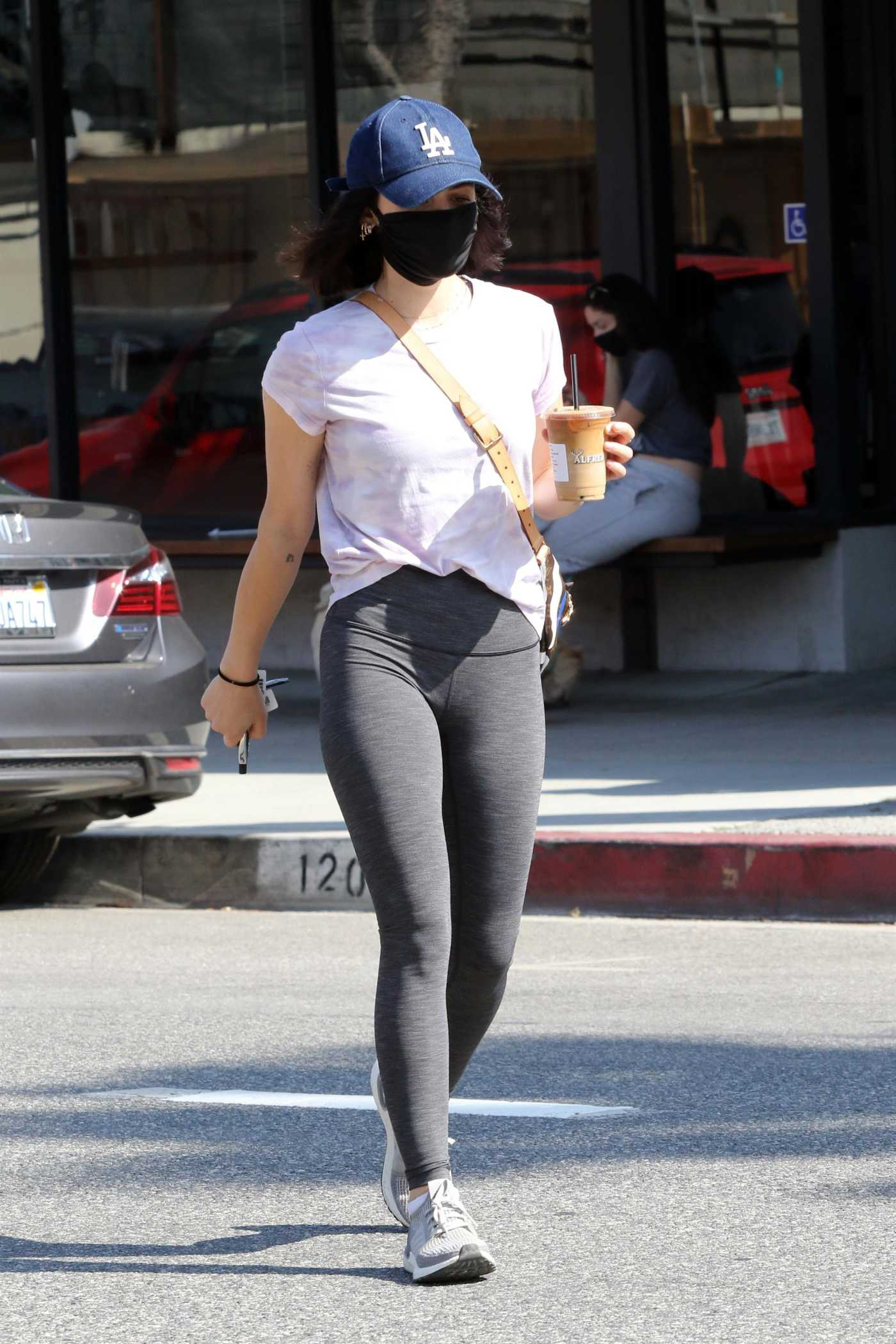 Lucy Hale in a Black Protective Mask Was Seen Out in Studio City 05/09/2020