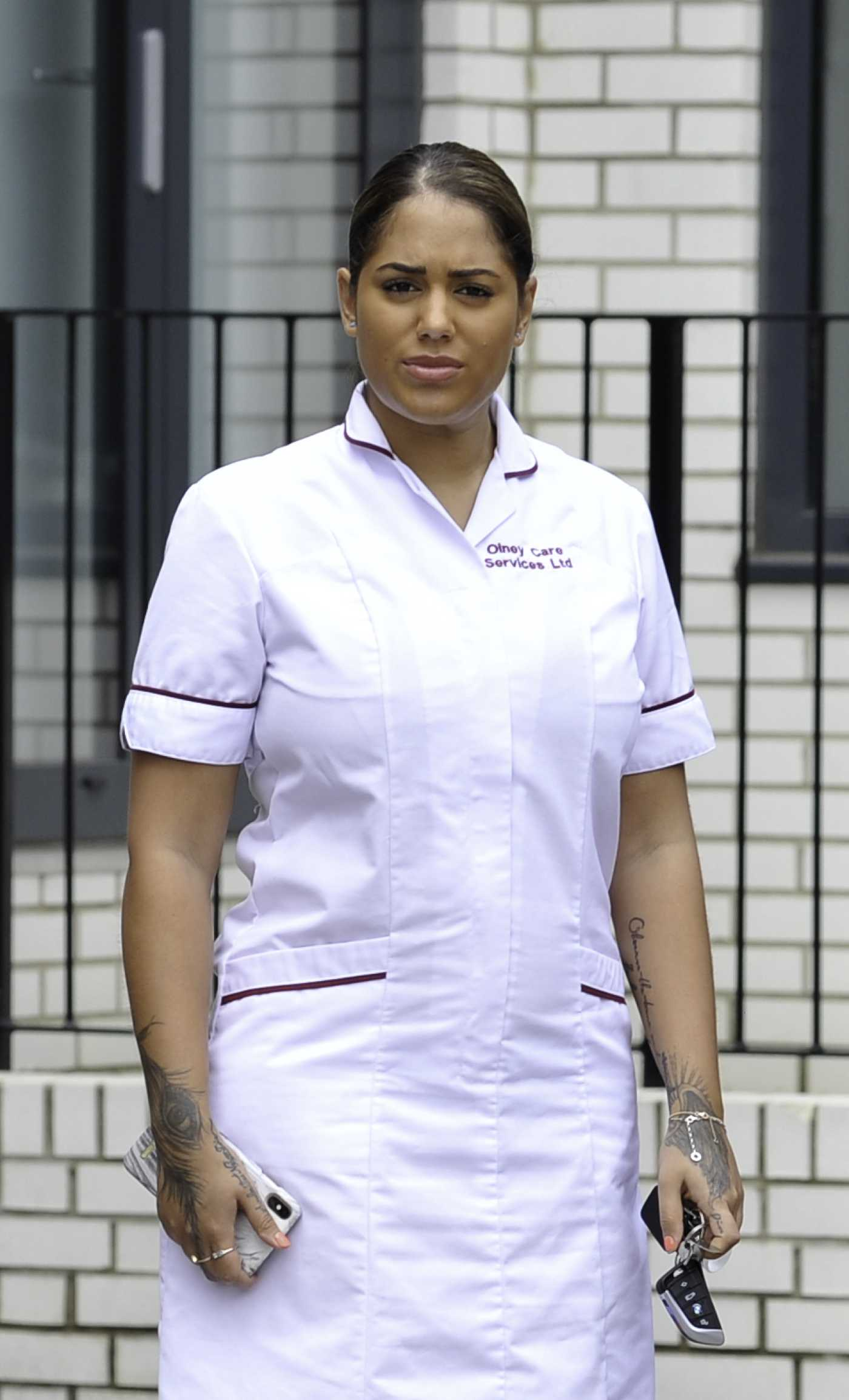Malin Andersson Leaves Her Nightshift Working as a Keyworker Nurse in a Care Home in London 05/27/2020
